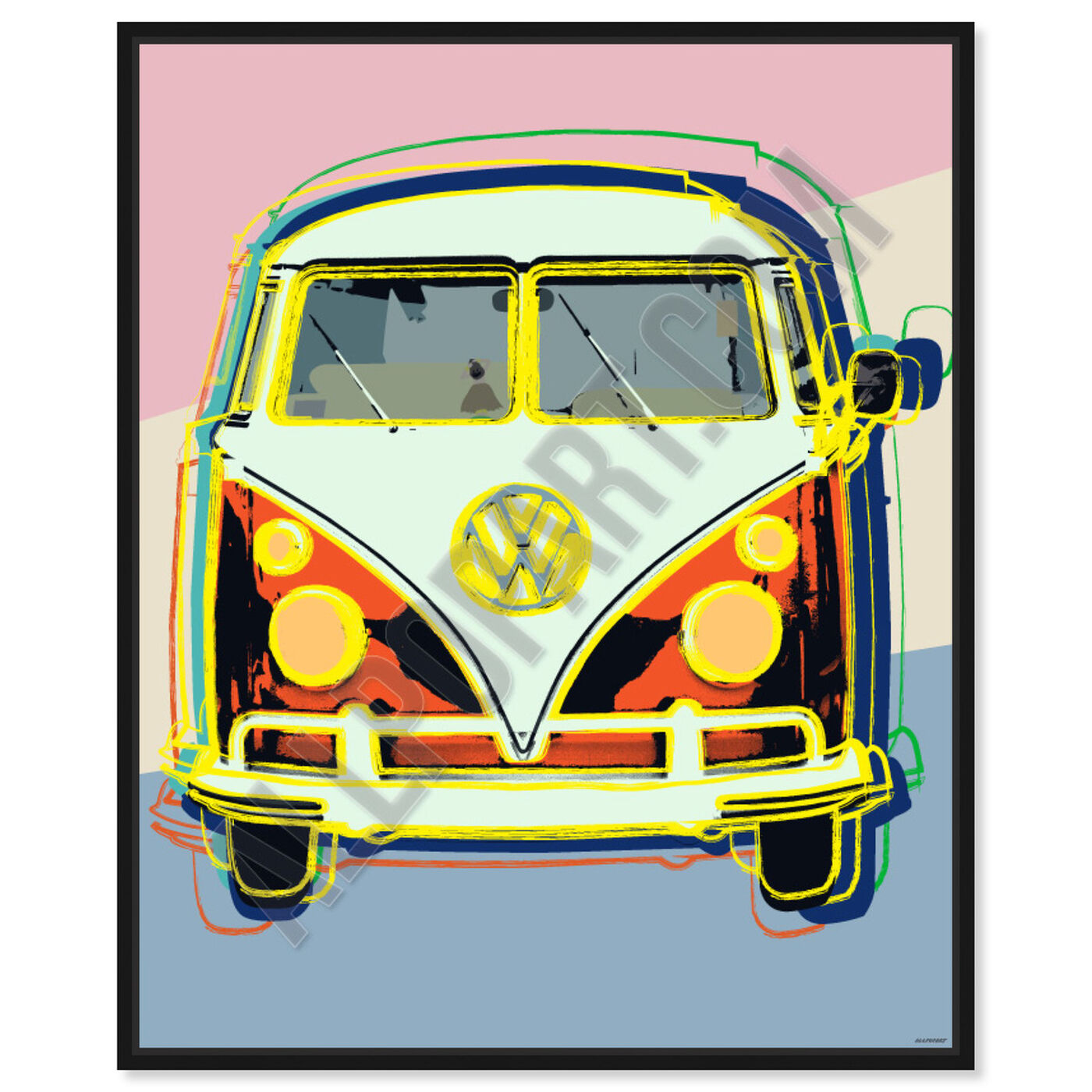 Front view of Classic Van featuring transportation and automobiles art.