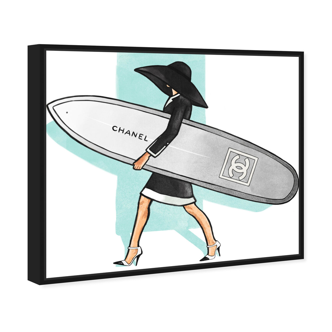 Angled view of Surfer Girl II featuring fashion and glam and lifestyle art.