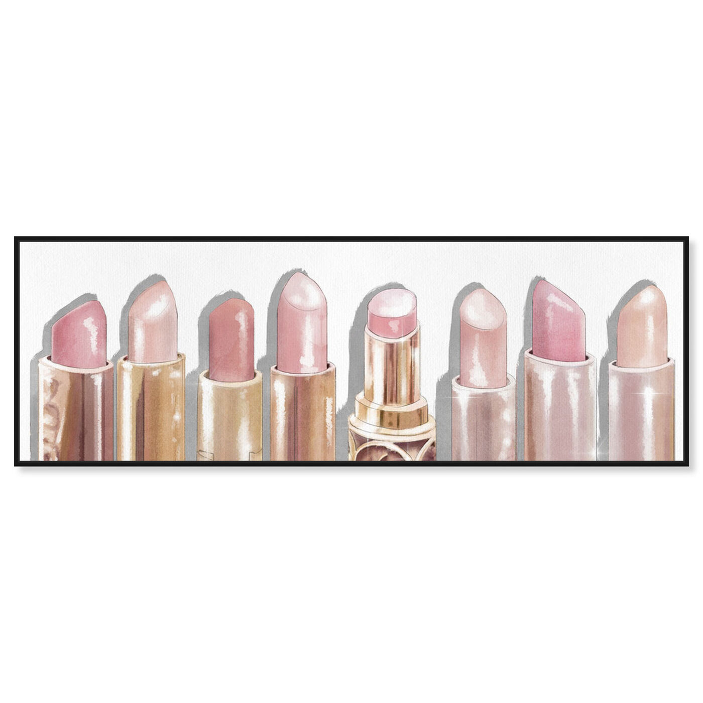 Front view of Lipstick Shades featuring fashion and glam and makeup art.