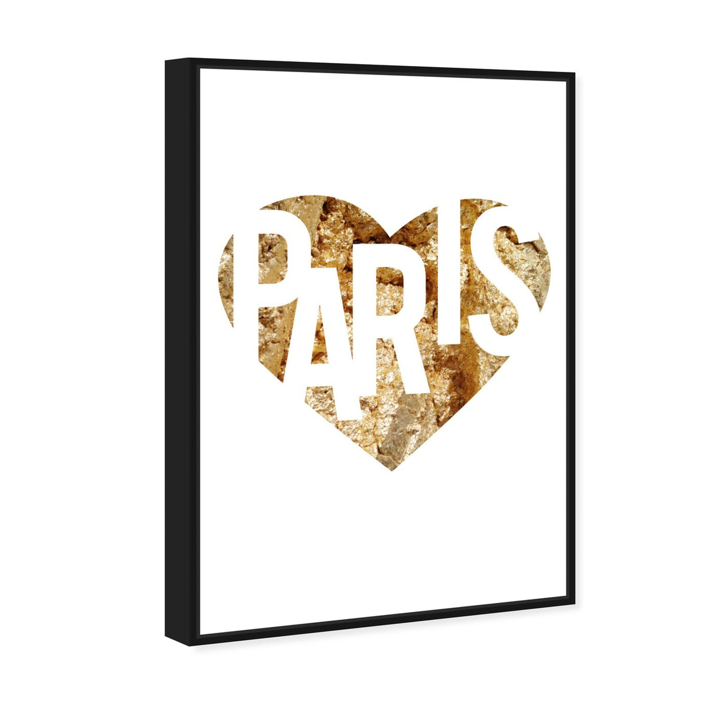 Angled view of I Love Paris Gold featuring fashion and glam and hearts art.