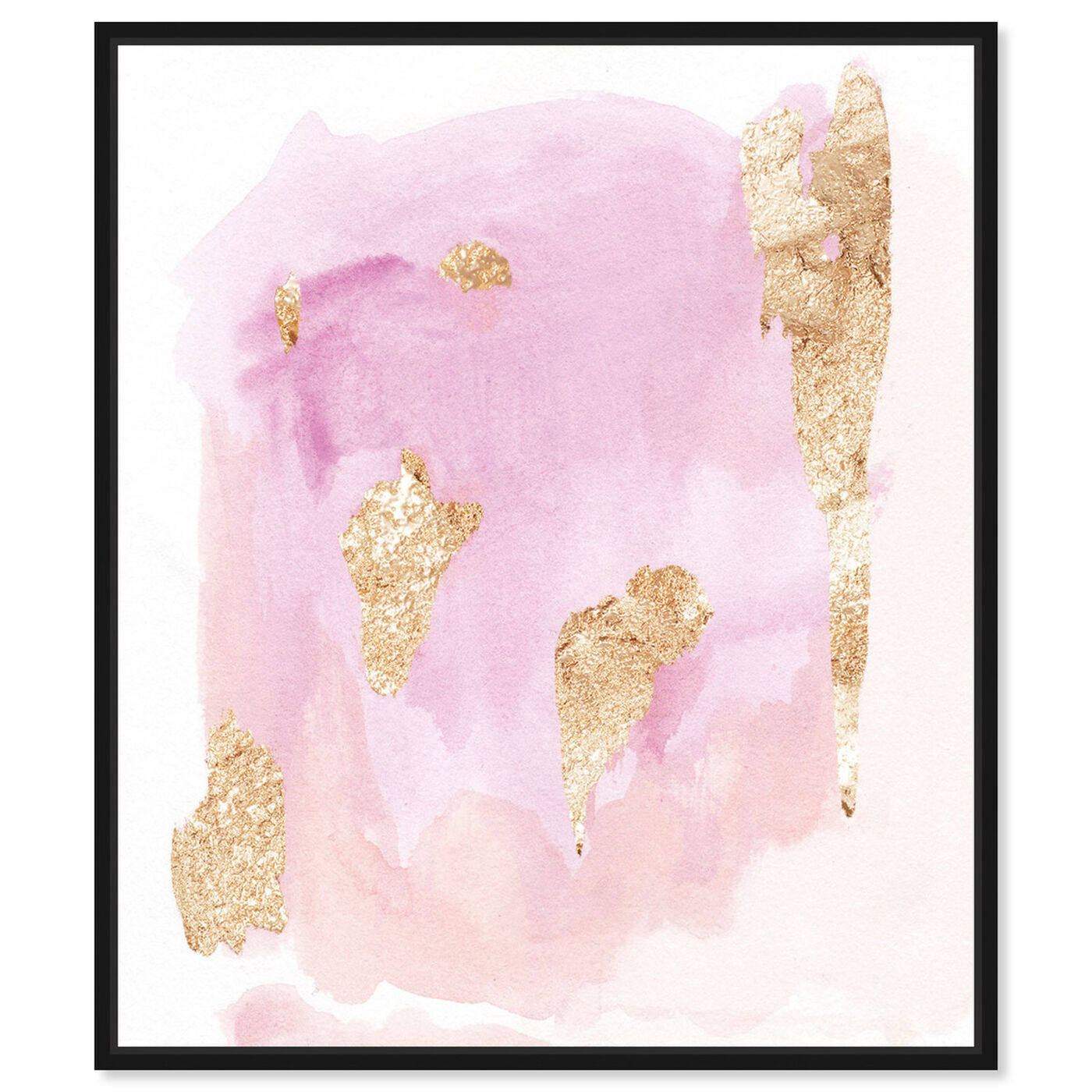 Front view of Pink Wednesdays featuring abstract and watercolor art.