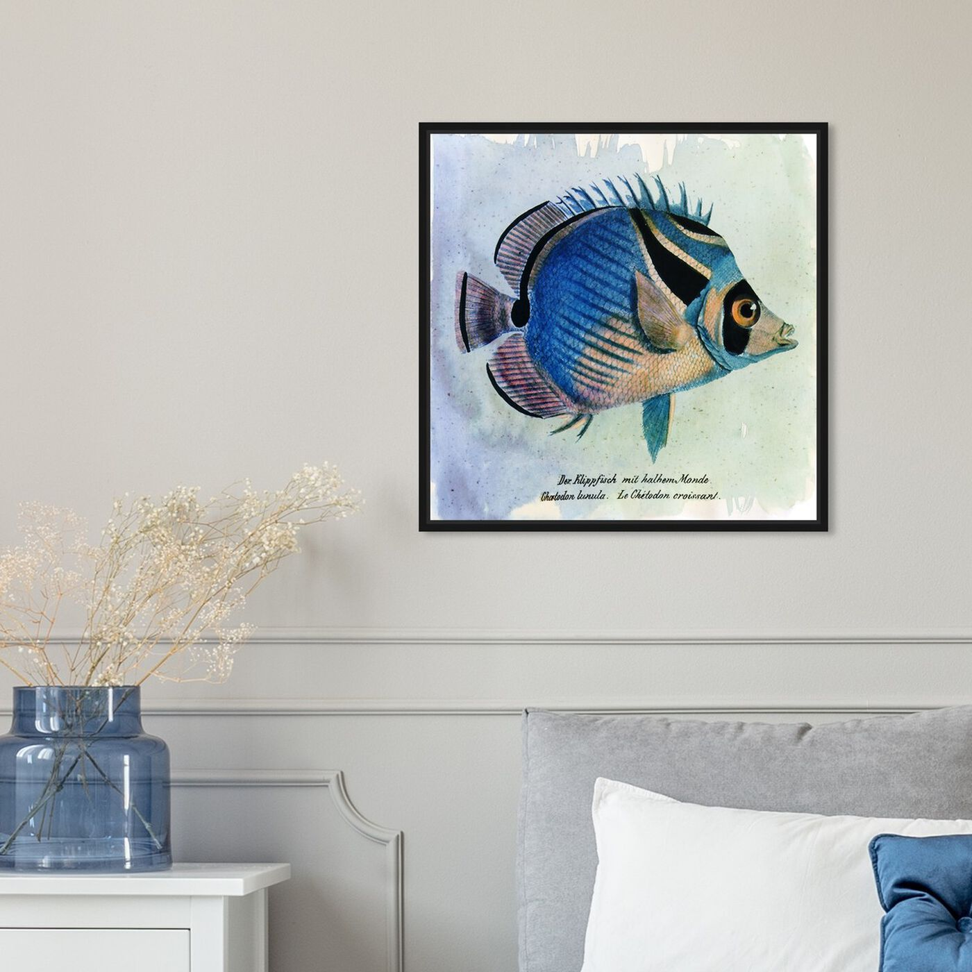 Hanging view of Croissant Fish featuring animals and sea animals art.