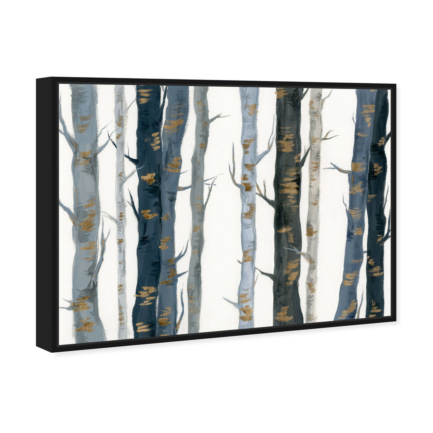 Angled view of Behind the Woods featuring floral and botanical and trees art.