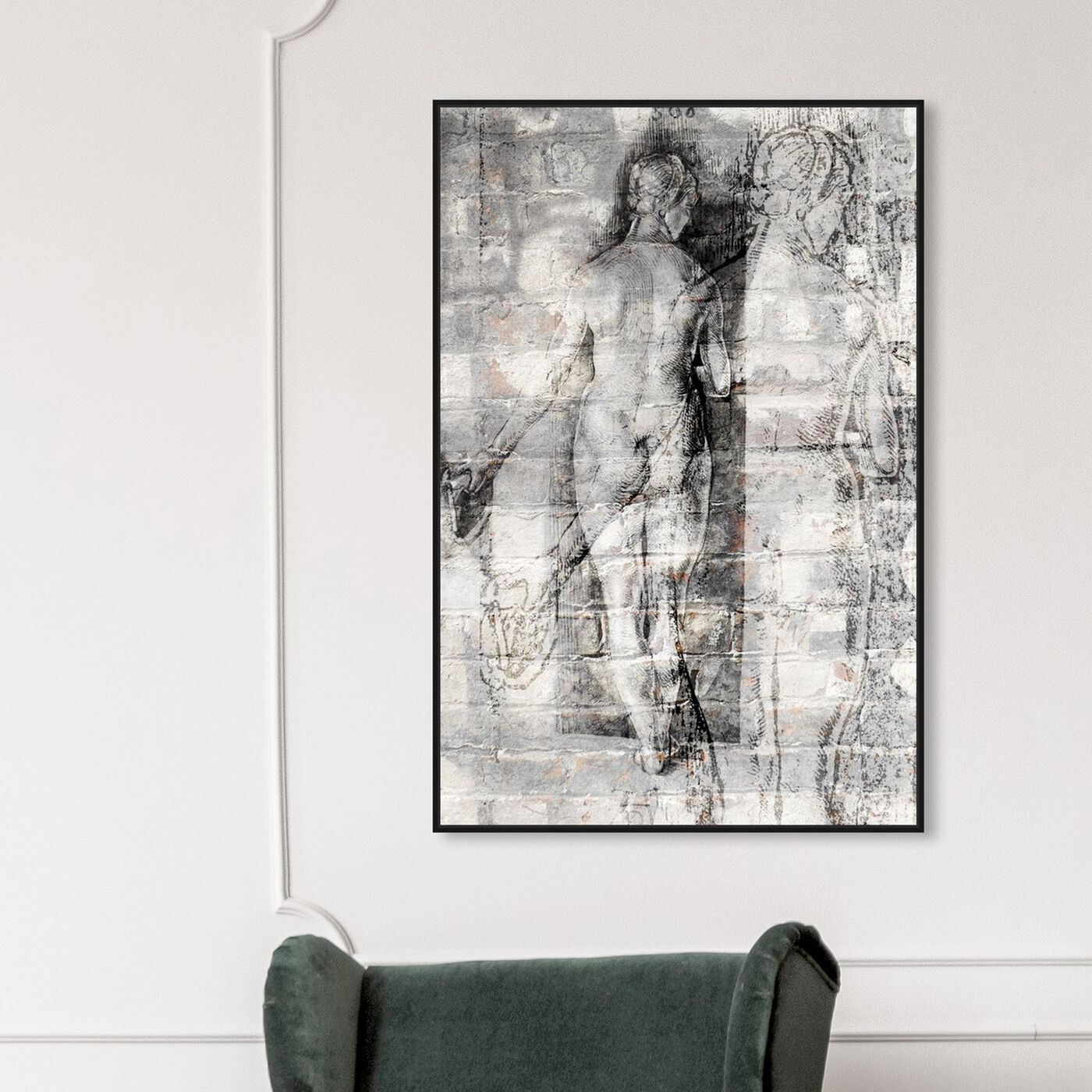 Hanging view of Nude Bricks featuring classic and figurative and nudes art.