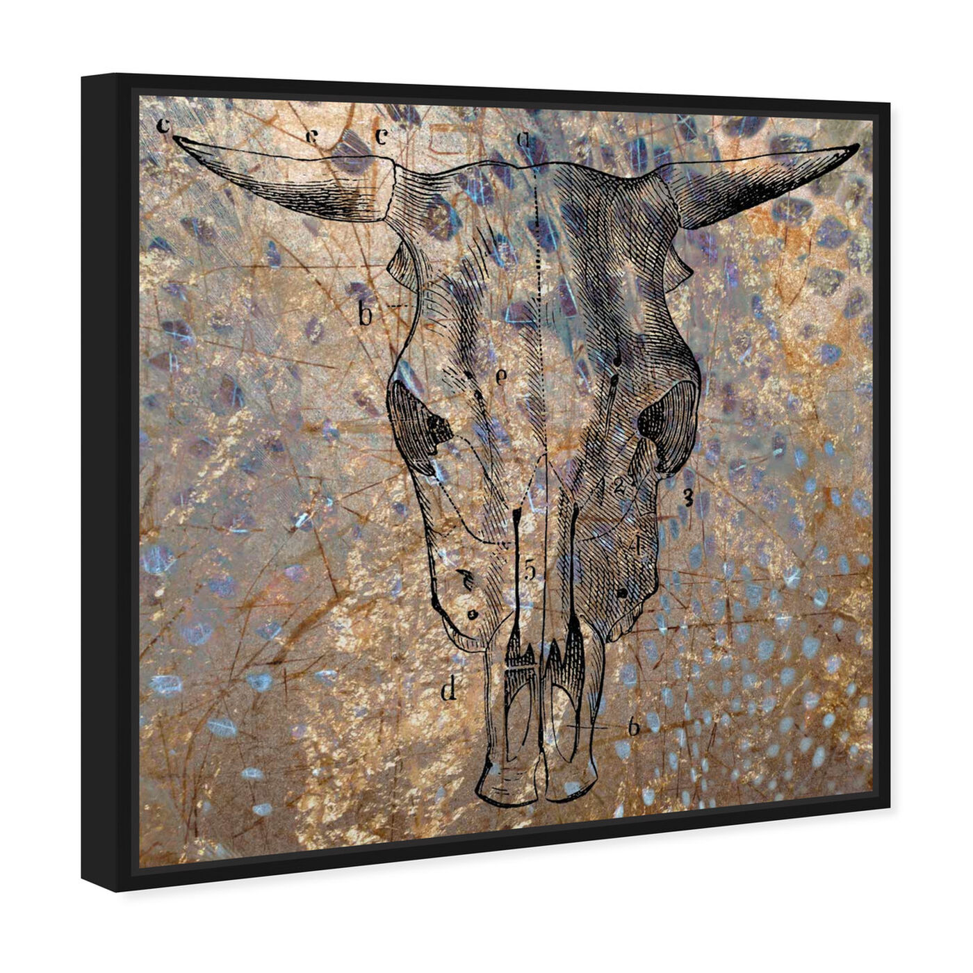 Angled view of Ox Brass featuring animals and farm animals art.