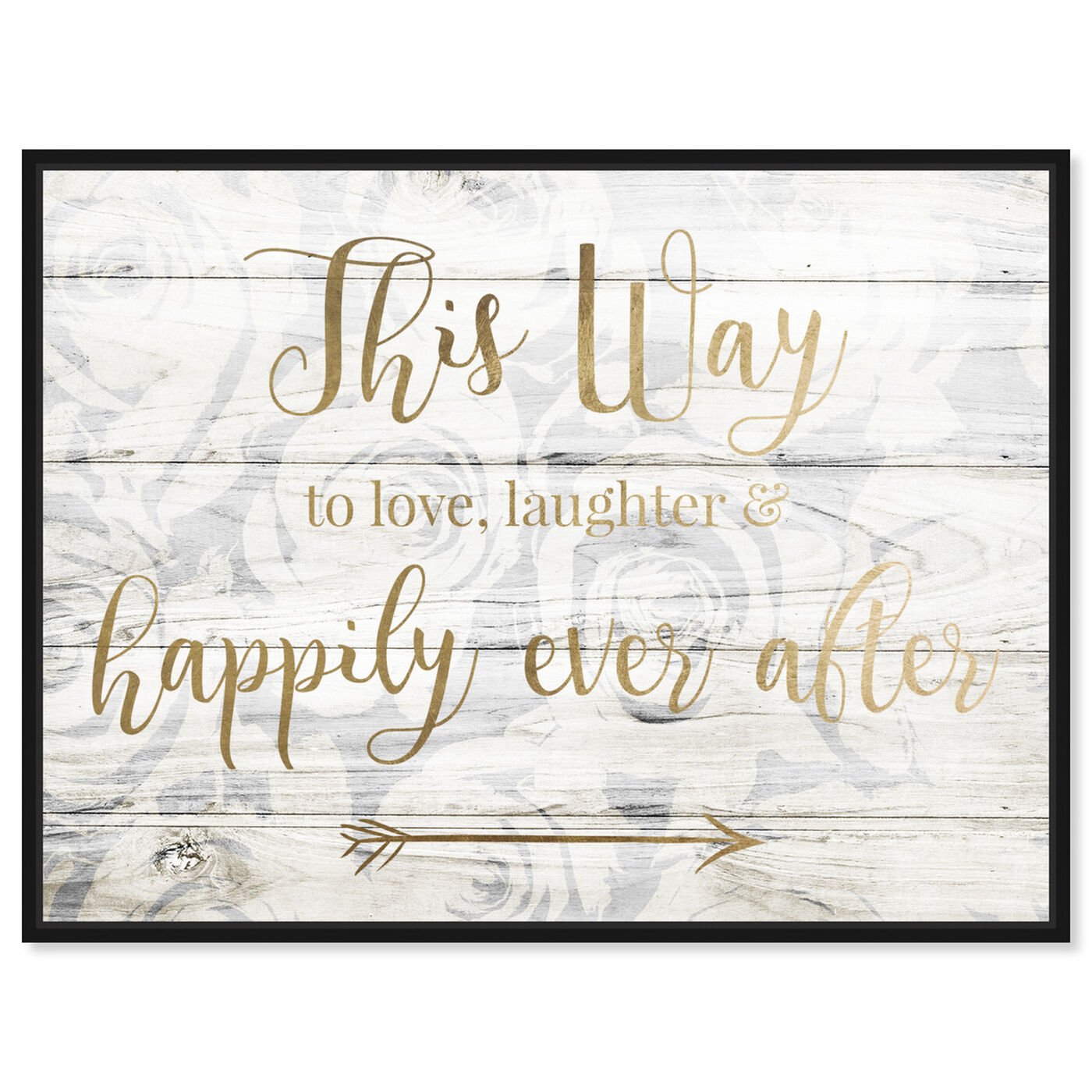 Front view of This Way To Happily Ever After featuring typography and quotes and love quotes and sayings art.