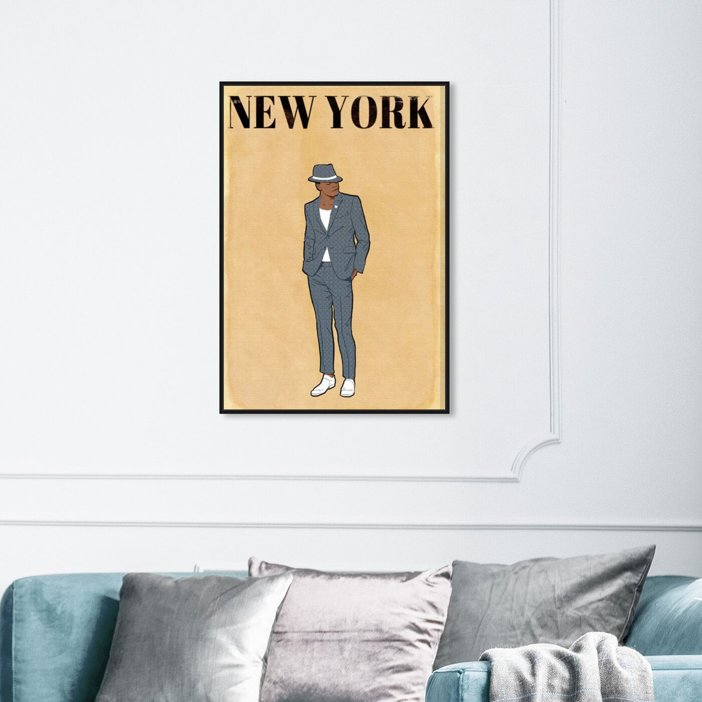 Hanging view of Esquire Gentleman featuring fashion and glam and outfits art.