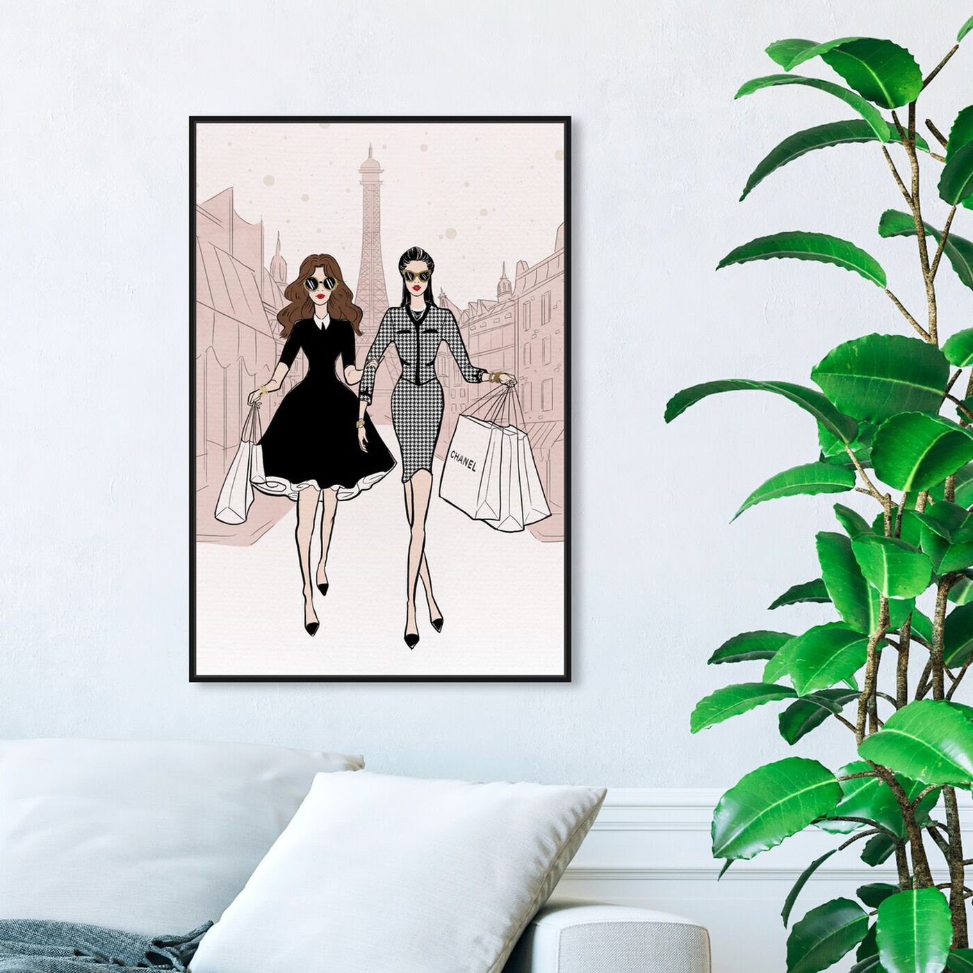 Hanging view of Designated Shopping Buddy II featuring fashion and glam and outfits art.