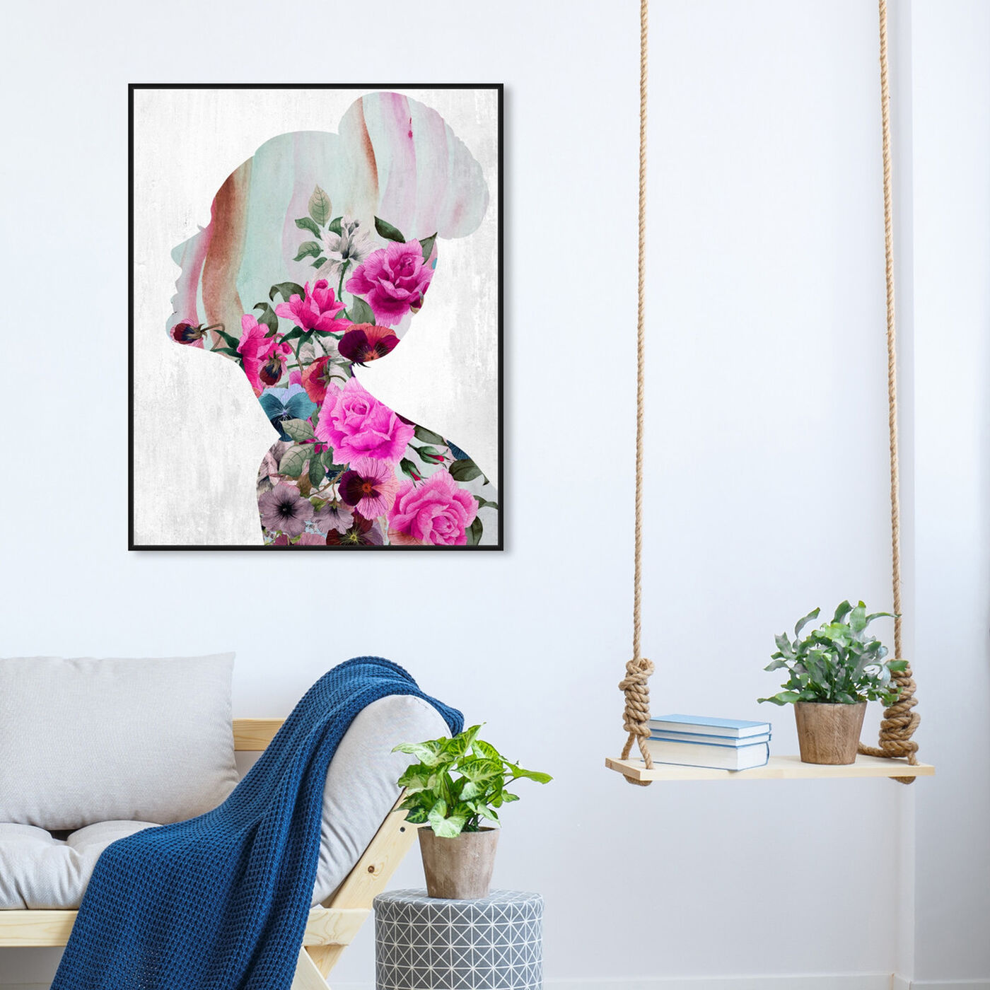 Hanging view of Flower Built I featuring floral and botanical and florals art.