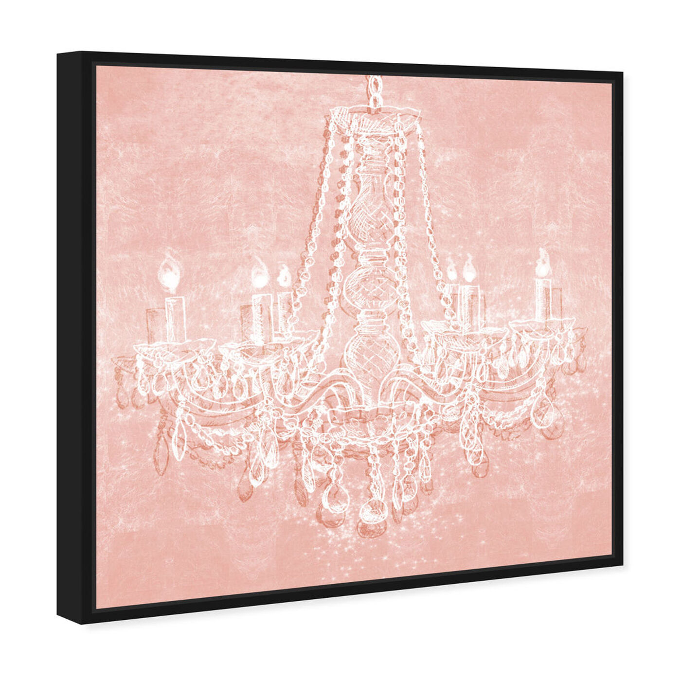 Angled view of Light in the Rose featuring fashion and glam and chandeliers art.