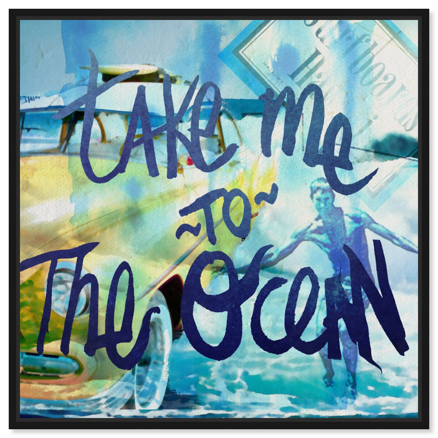 Front view of Take Me To The Ocean featuring typography and quotes and quotes and sayings art.