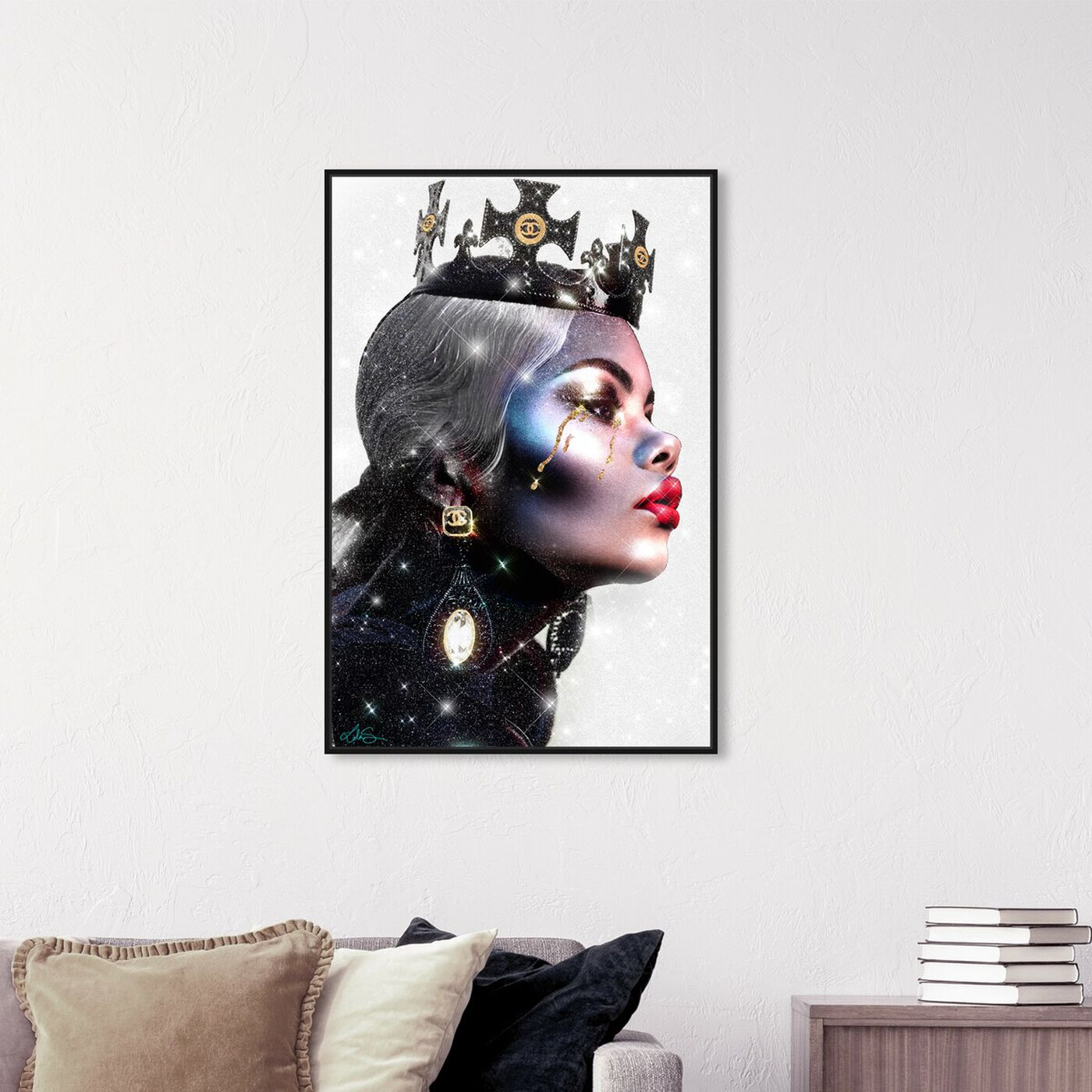 Hanging view of Checkmate Queen featuring fashion and glam and runway art.