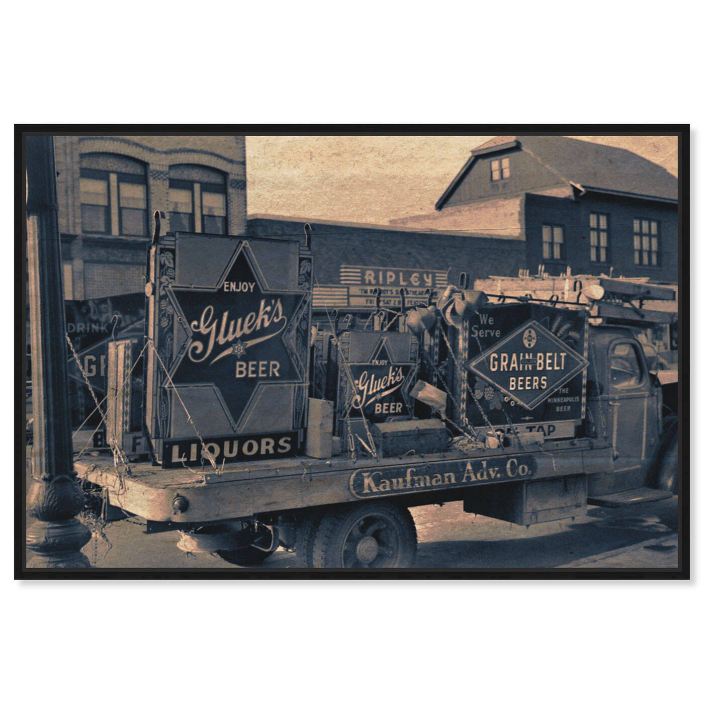 Front view of Beer Truck featuring drinks and spirits and beer art.