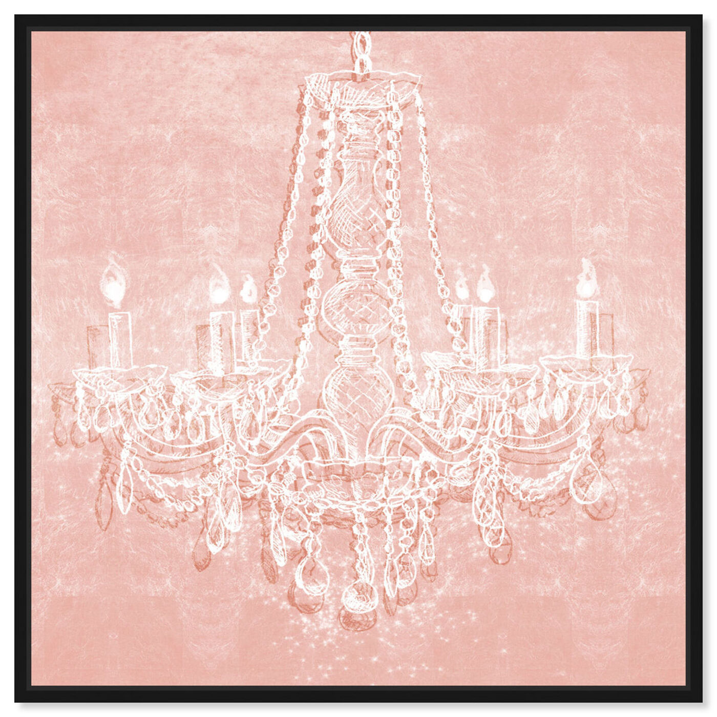Front view of Light in the Rose featuring fashion and glam and chandeliers art.