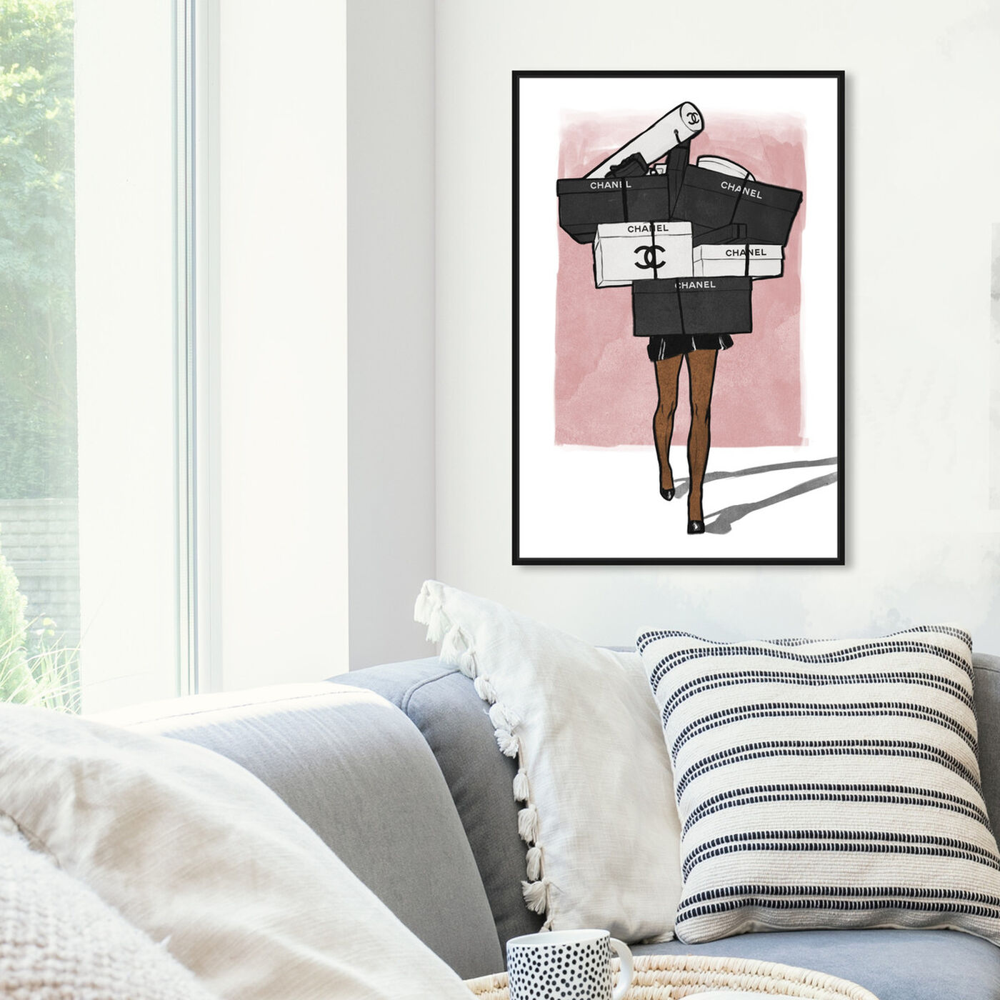 Hanging view of French Boxes Overload Blush featuring fashion and glam and lifestyle art.