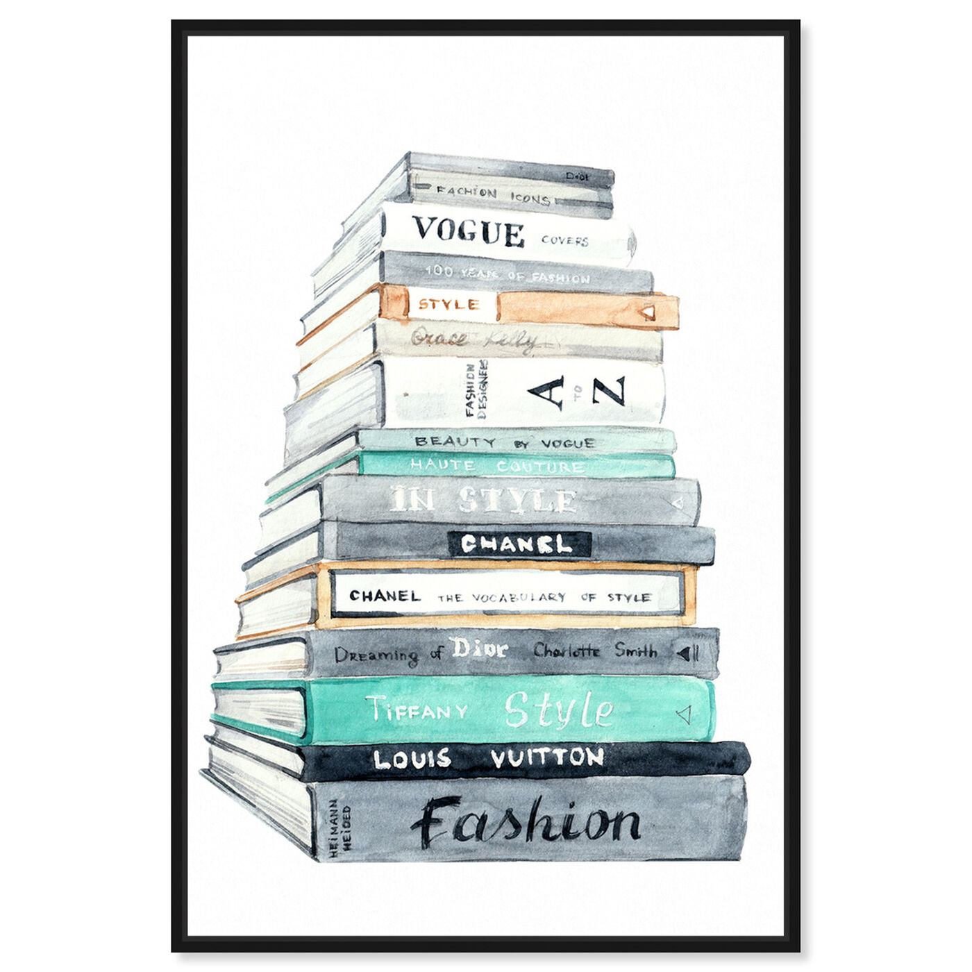 Front view of Fashion Book Perspective featuring fashion and glam and books art.