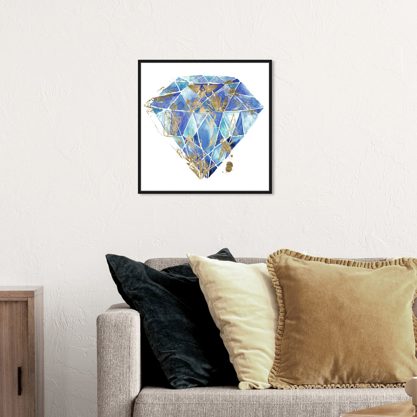 Hanging view of Treasure I featuring abstract and crystals art.