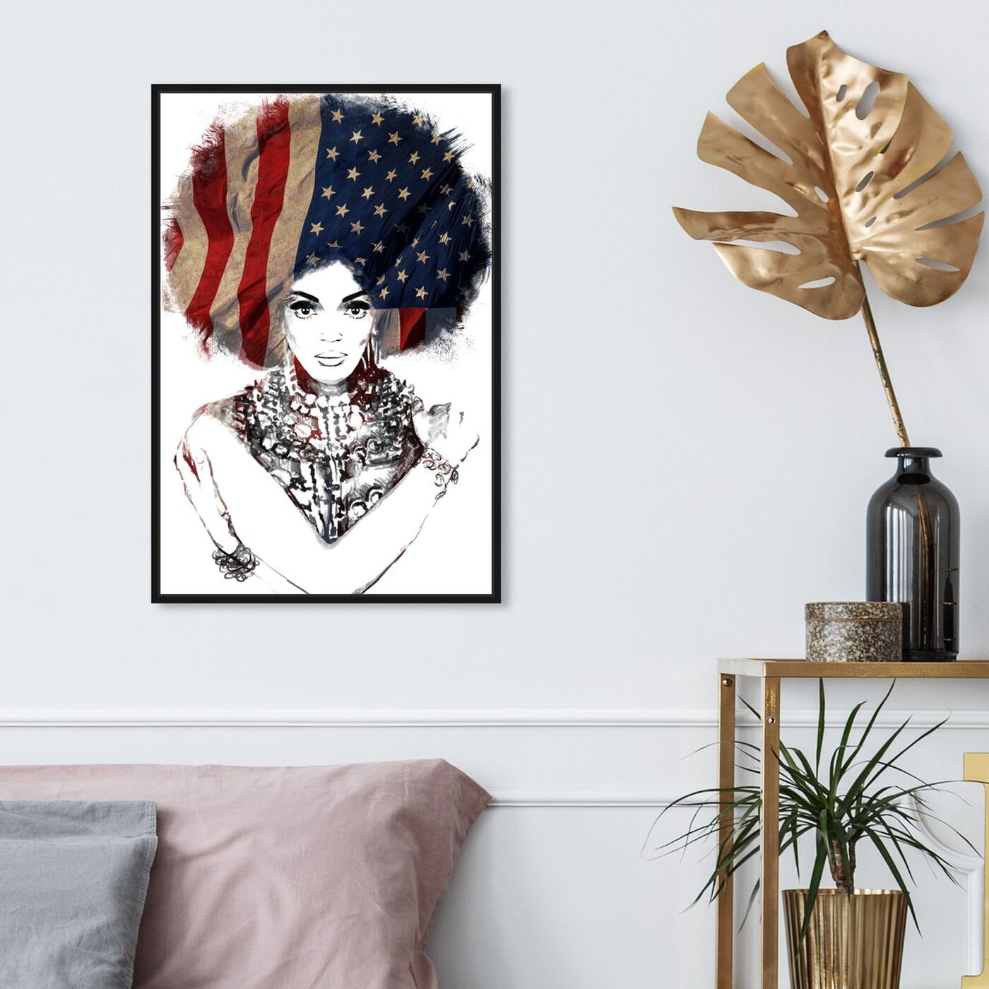 Hanging view of New American Woman featuring people and portraits and portraits art.