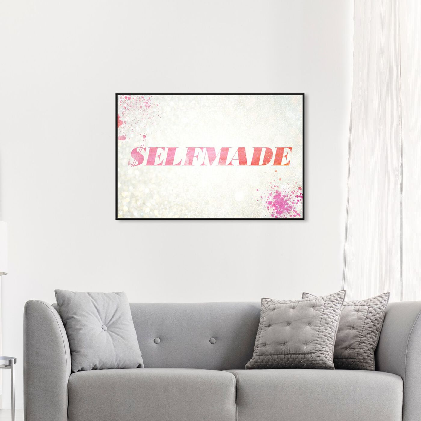 Hanging view of $elfmade Coral featuring typography and quotes and quotes and sayings art.