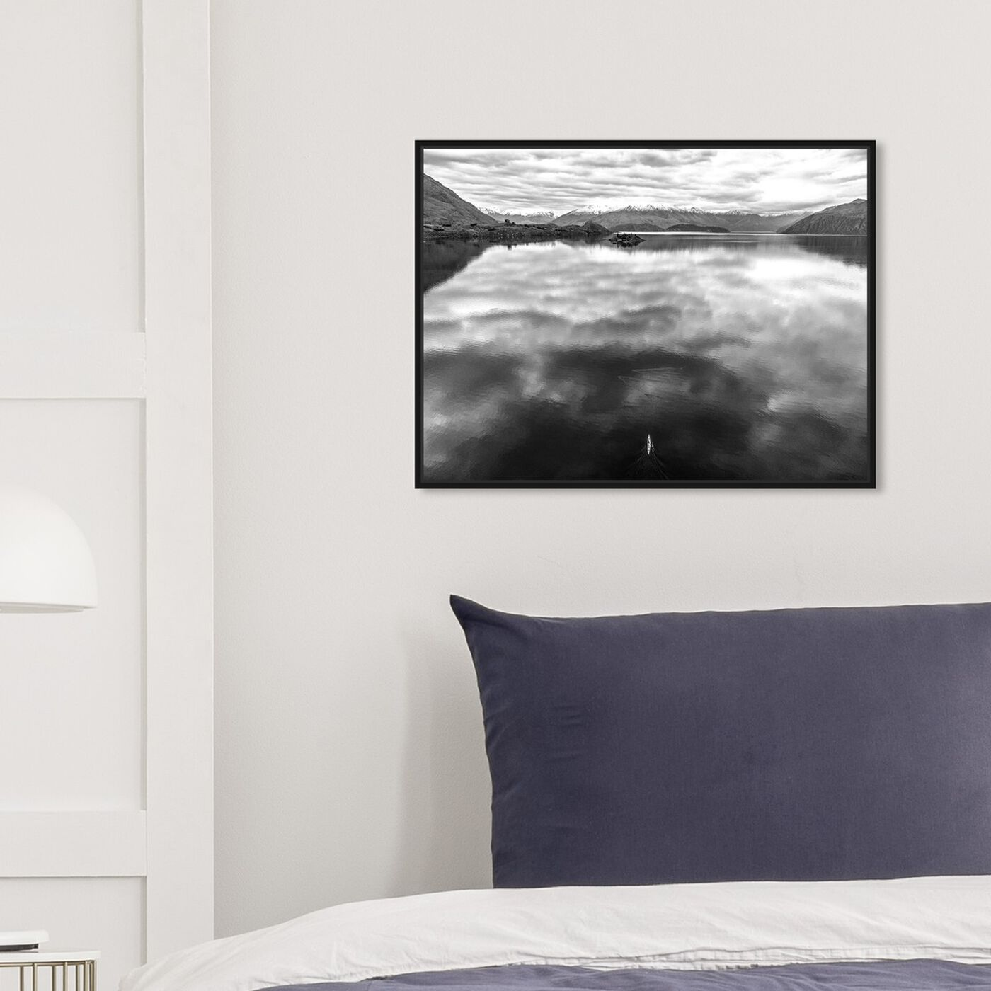 Hanging view of Curro Cardenal - Rowing Noir featuring nature and landscape and nature art.