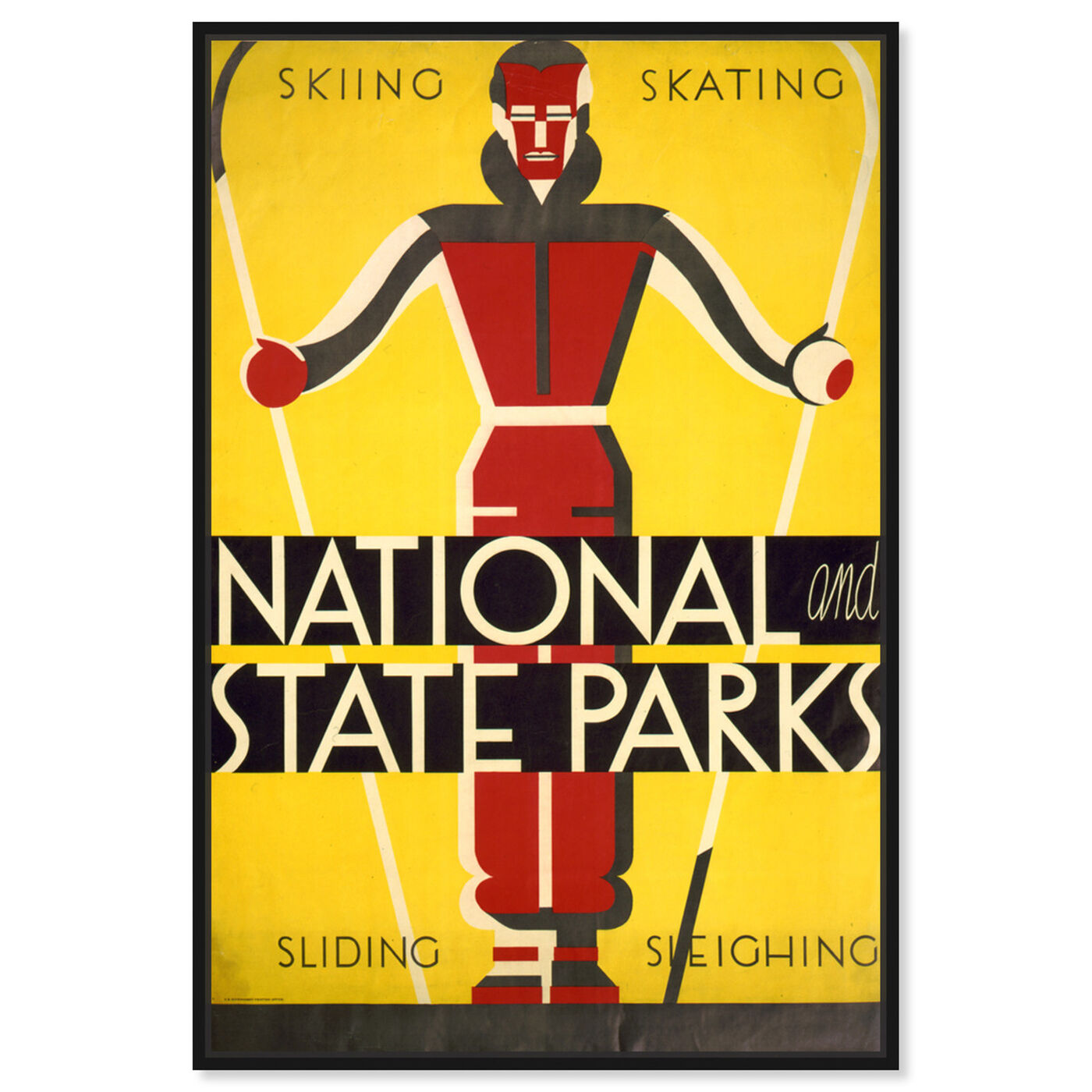 Front view of Skiing Skating Parks featuring sports and teams and skiing art.