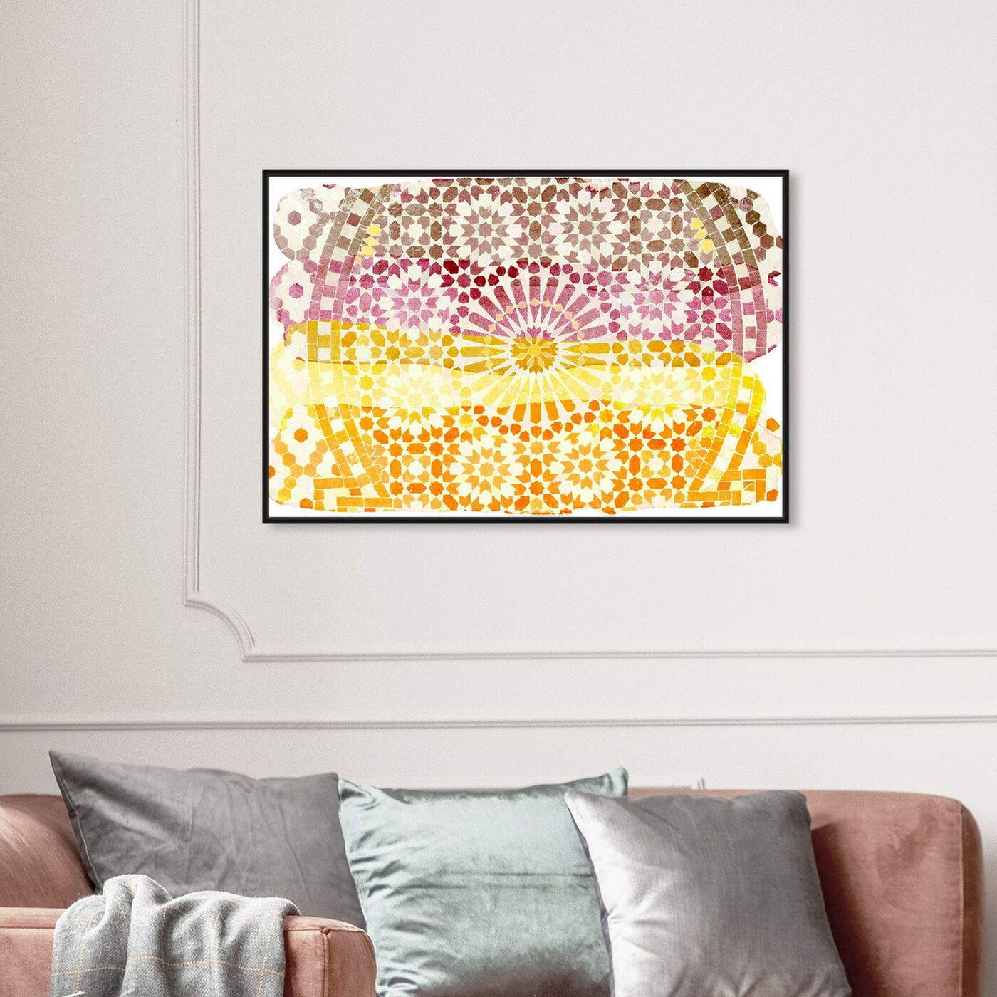 Hanging view of Arabian Nights Warm featuring abstract and patterns art.