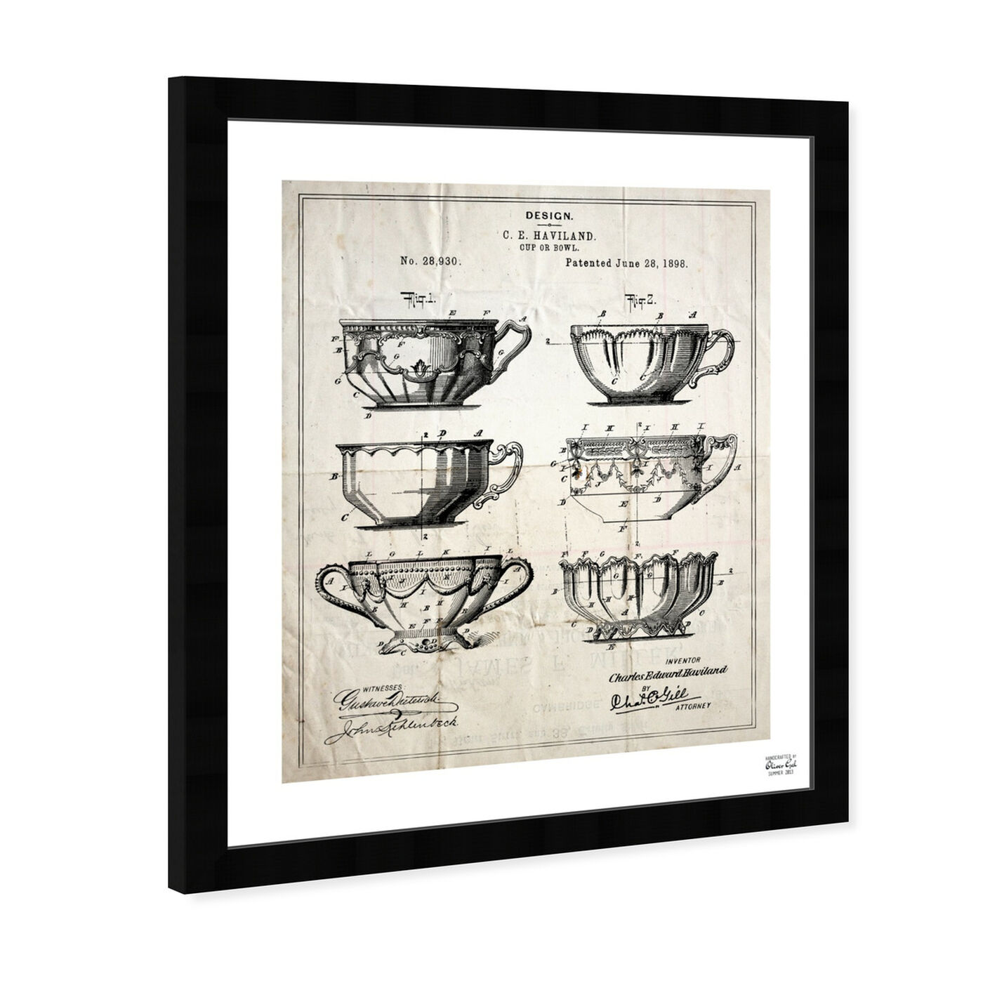 Angled view of Design For A Cup 1898 featuring food and cuisine and kitchen art.