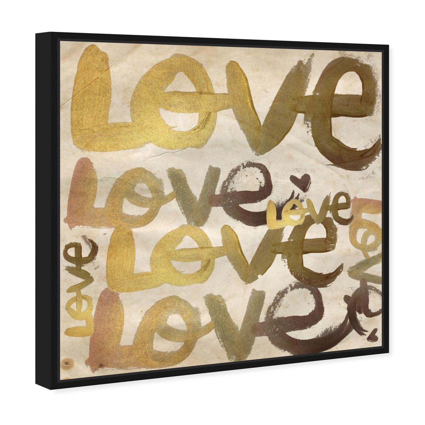 Angled view of Four Letter Word featuring typography and quotes and love quotes and sayings art.