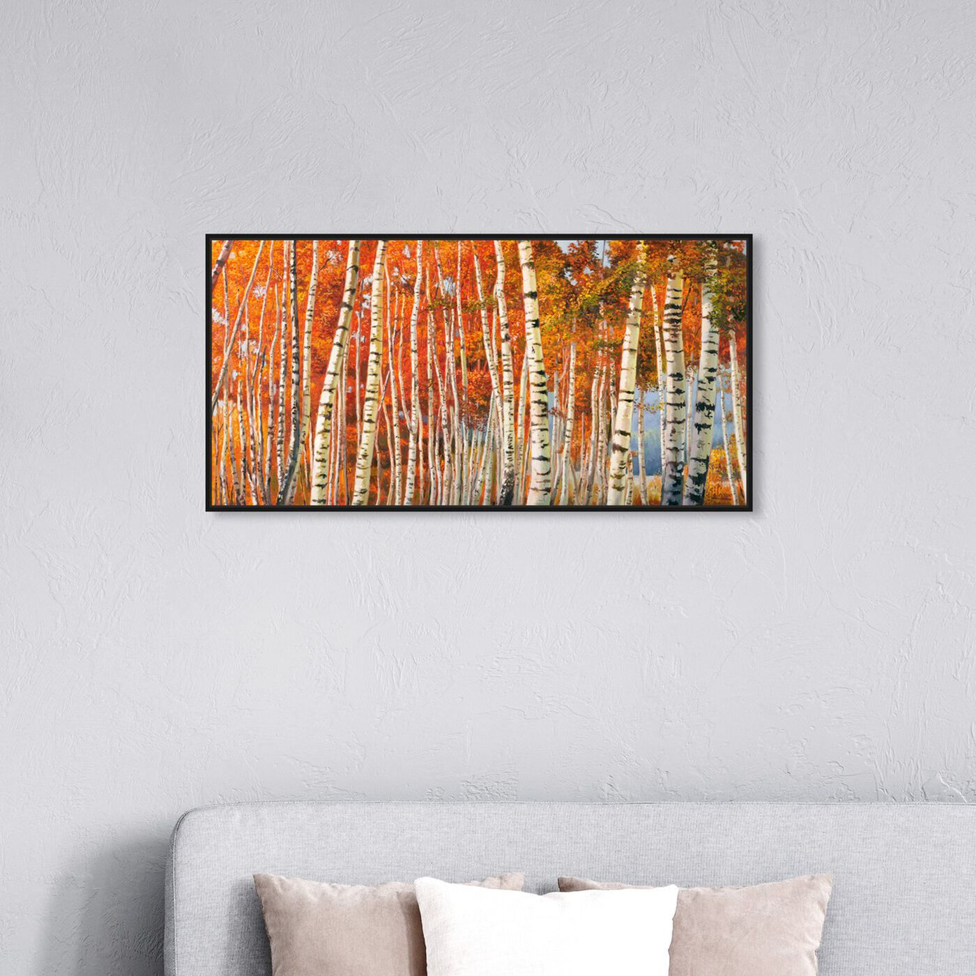 Hanging view of SAI - Fall Leaf Tree's featuring nature and landscape and forest landscapes art.
