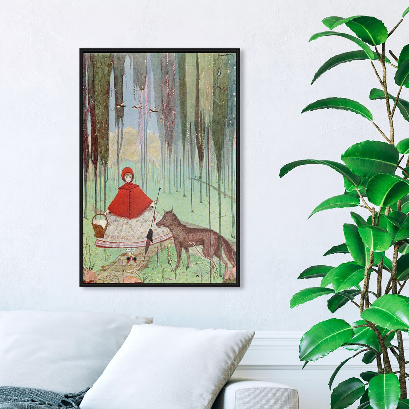 Hanging view of Little Red Riding Hood featuring fantasy and sci-fi and fairy tales art.