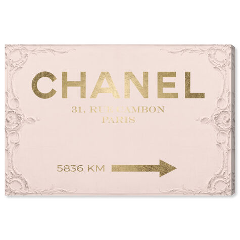 Couture Road Sign Rococo Gold Blush