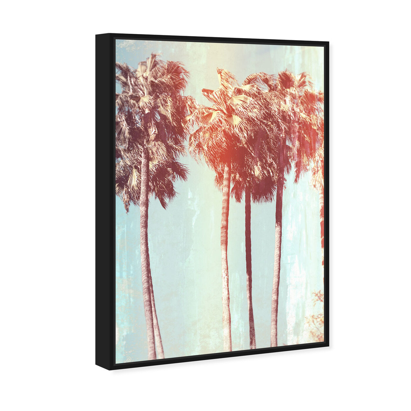 Angled view of Palm Tree Dream featuring floral and botanical and trees art.