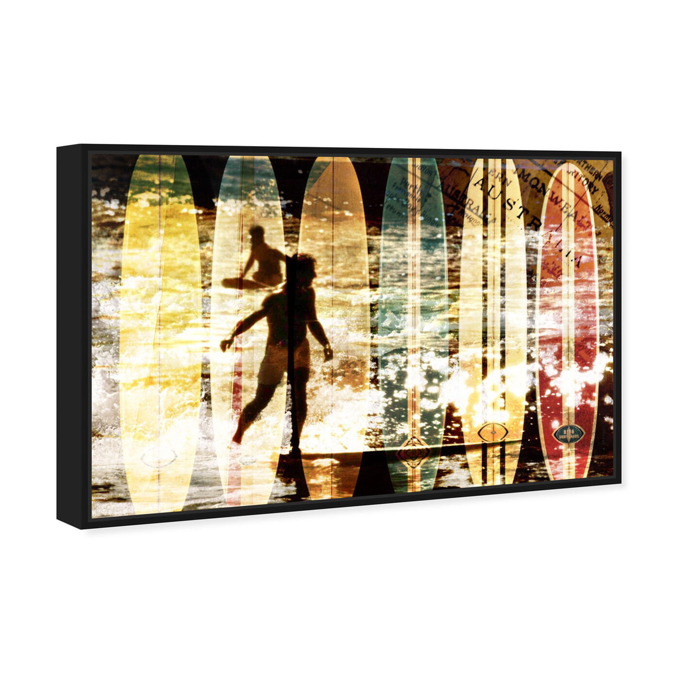 Angled view of Surfing Australia featuring nautical and coastal and nautical sports art.