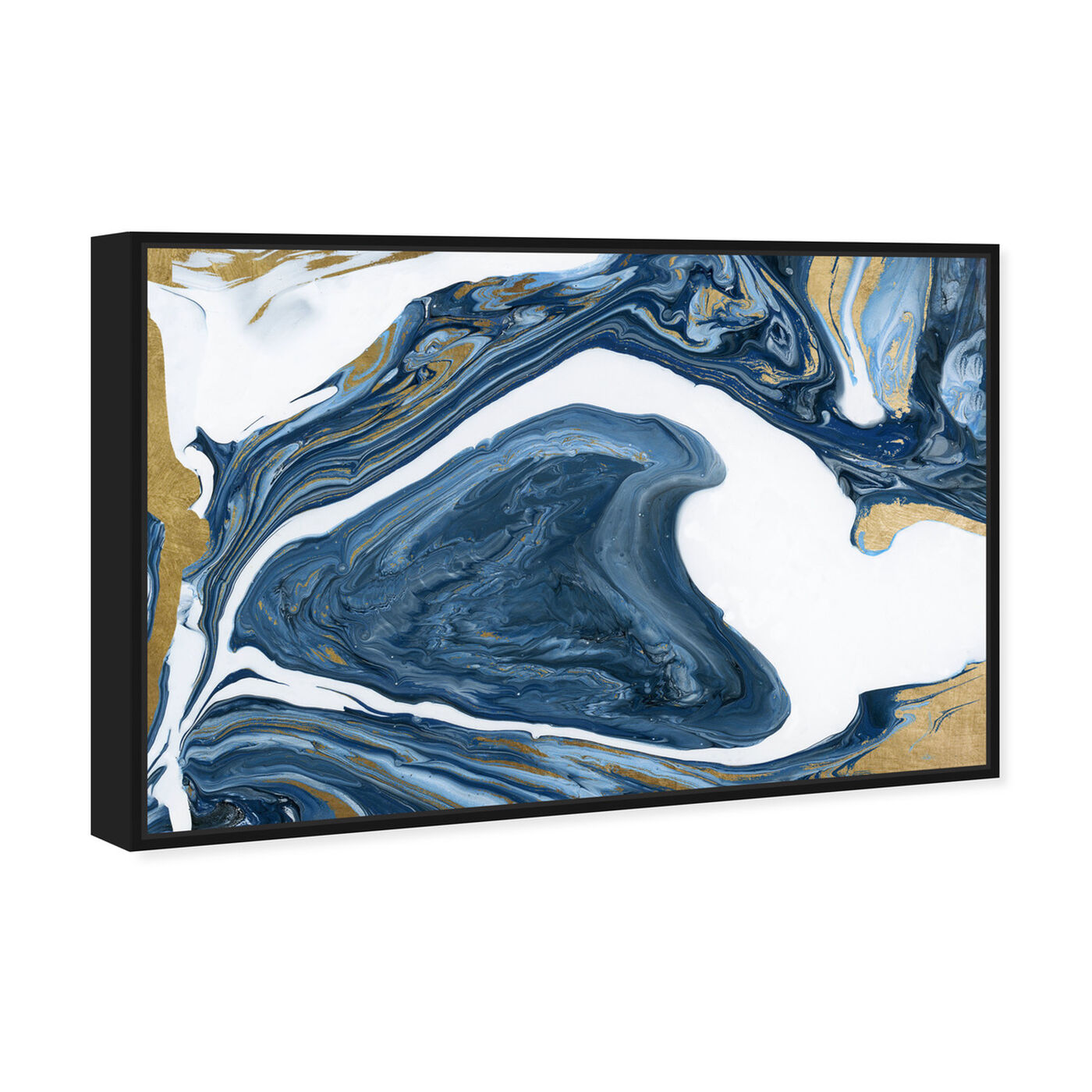 Angled view of Deep Agate featuring abstract and crystals art.