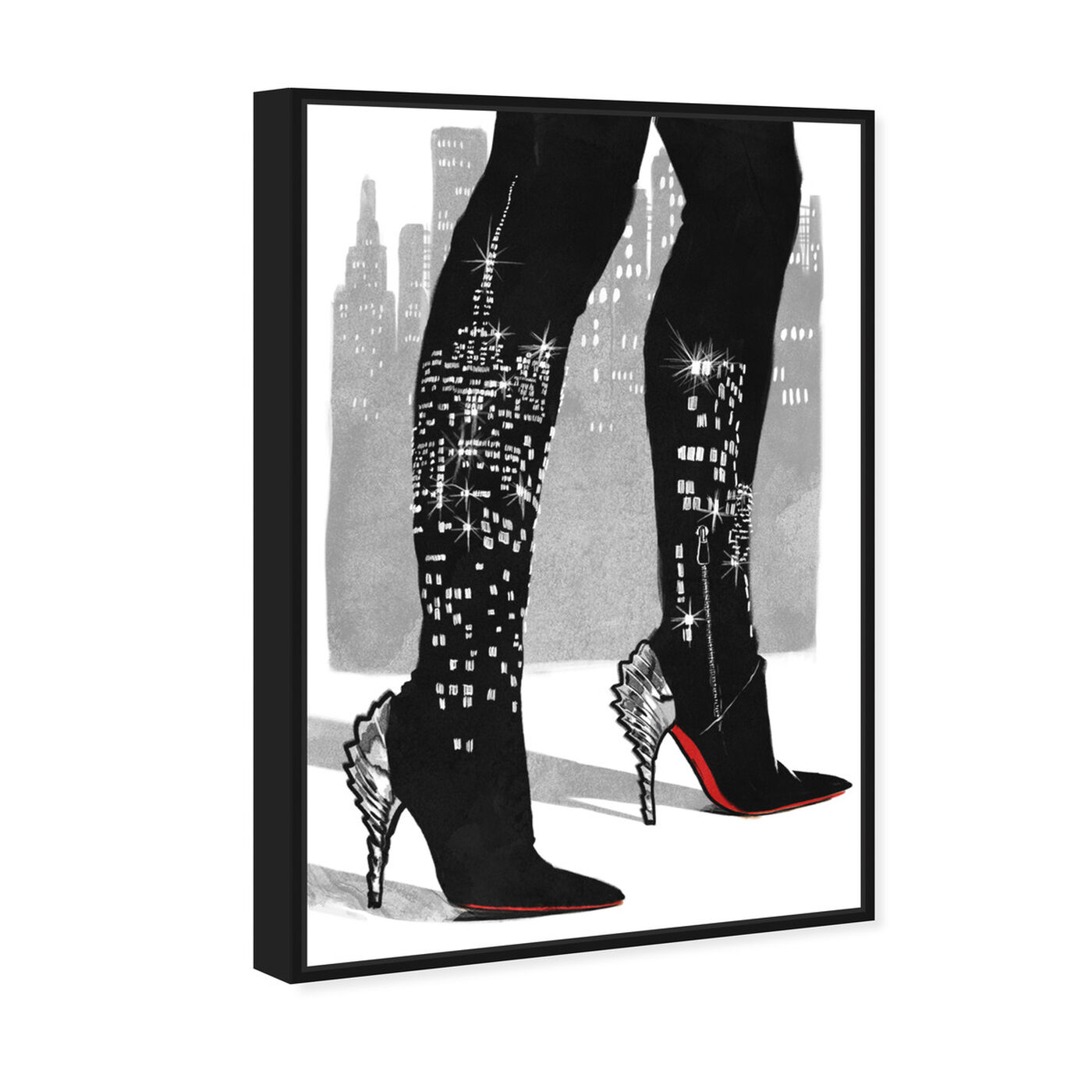 Angled view of City Lights featuring fashion and glam and shoes art.