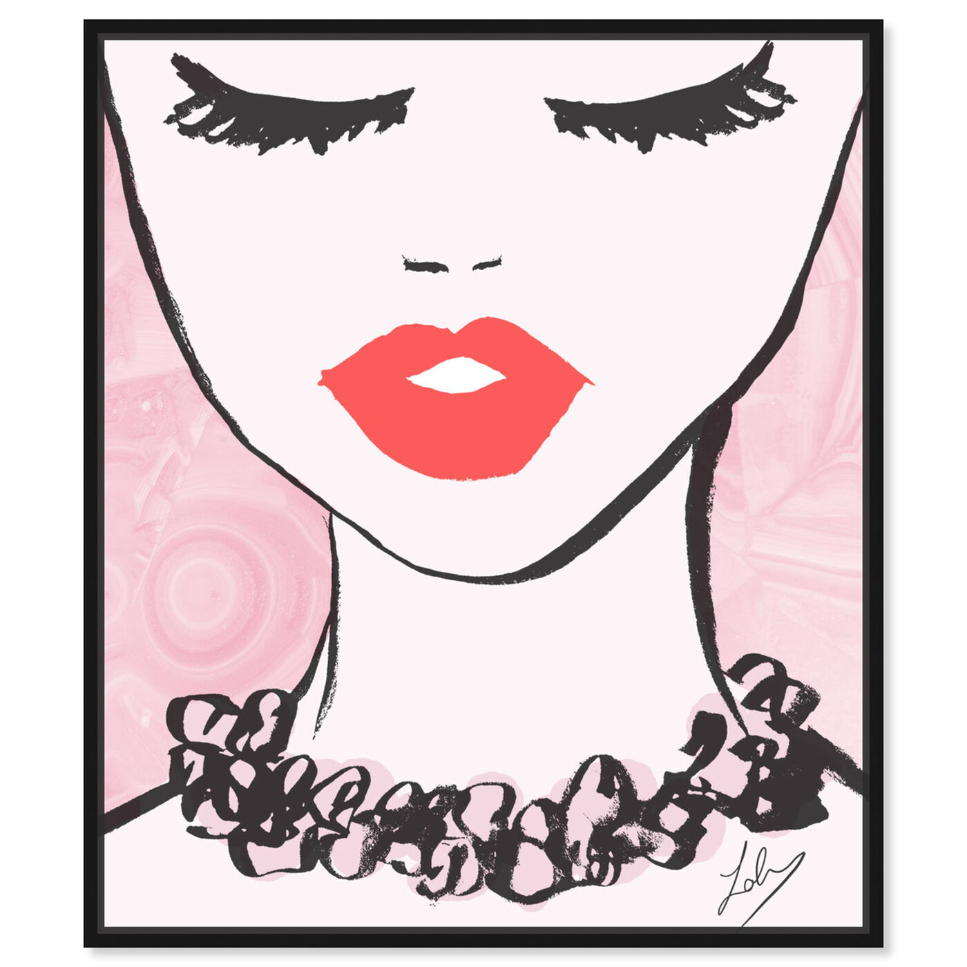 Front view of Classy Lips featuring fashion and glam and lips art.