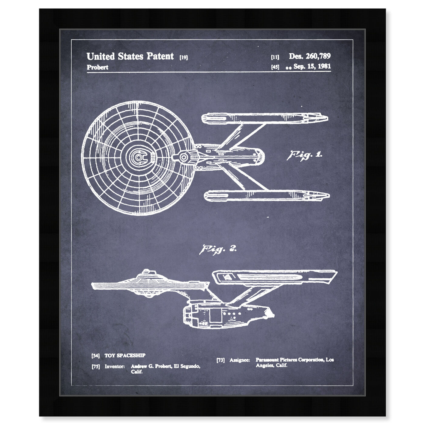 Front view of Enterprise 1981 I featuring movies and tv and movies art.