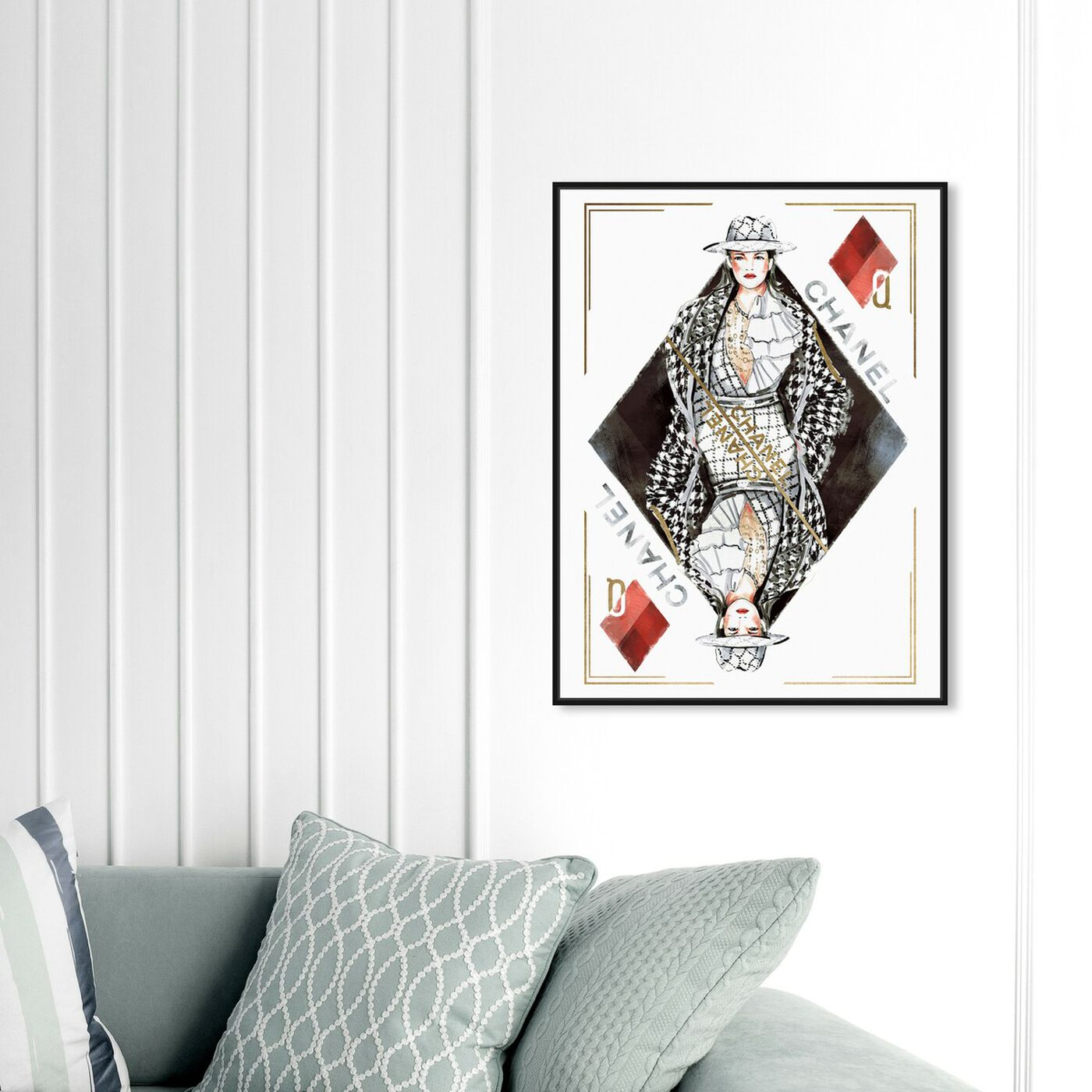 Hanging view of Queen of Diamonds Classic featuring fashion and glam and outfits art.