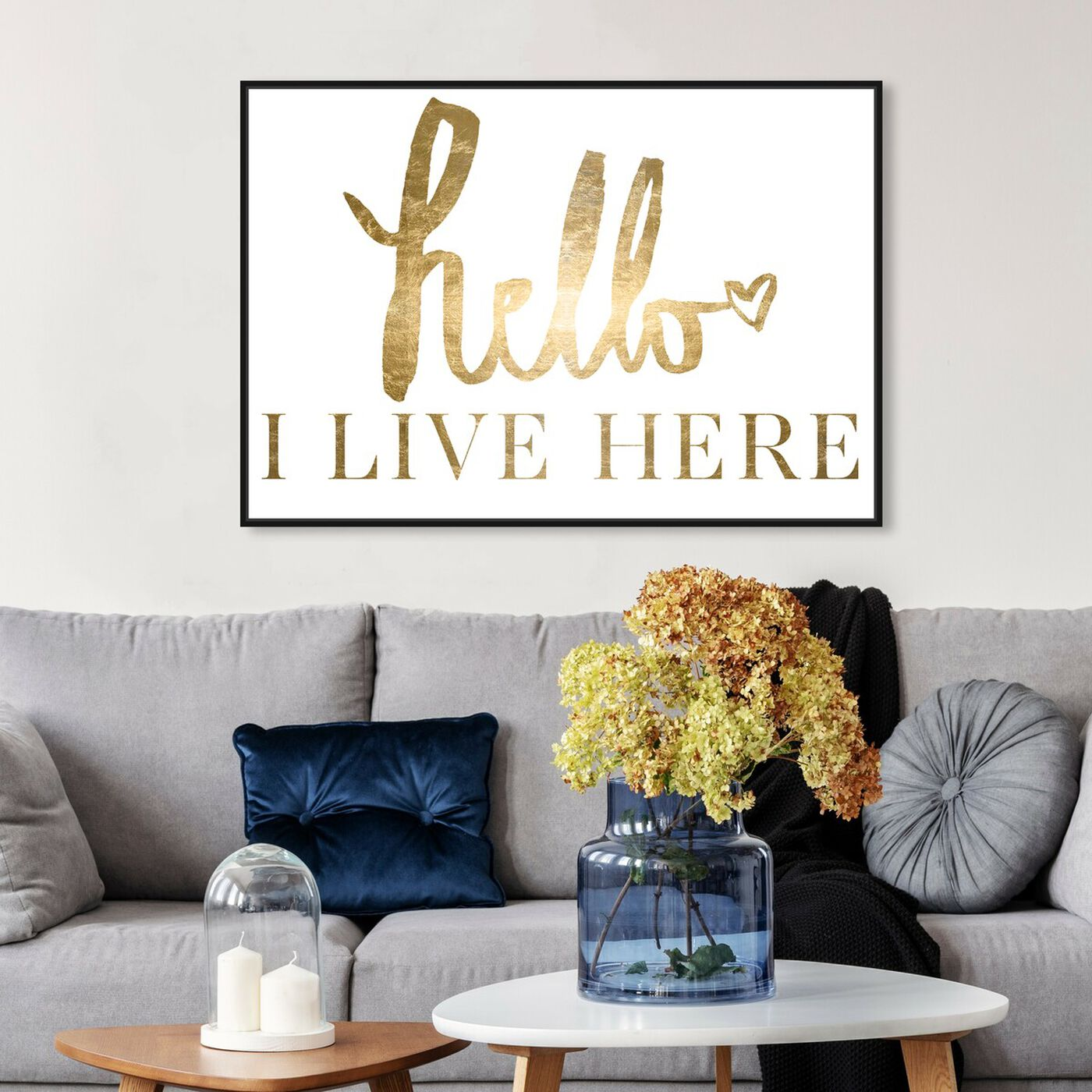 Hanging view of Carrie B.'s Quote Gold Foil featuring typography and quotes and family quotes and sayings art.