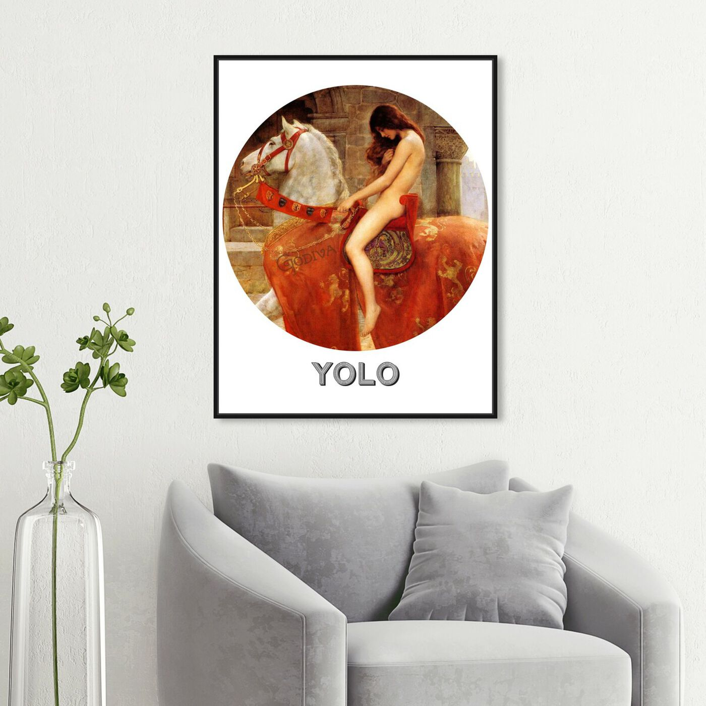Hanging view of Yolo featuring animals and farm animals art.