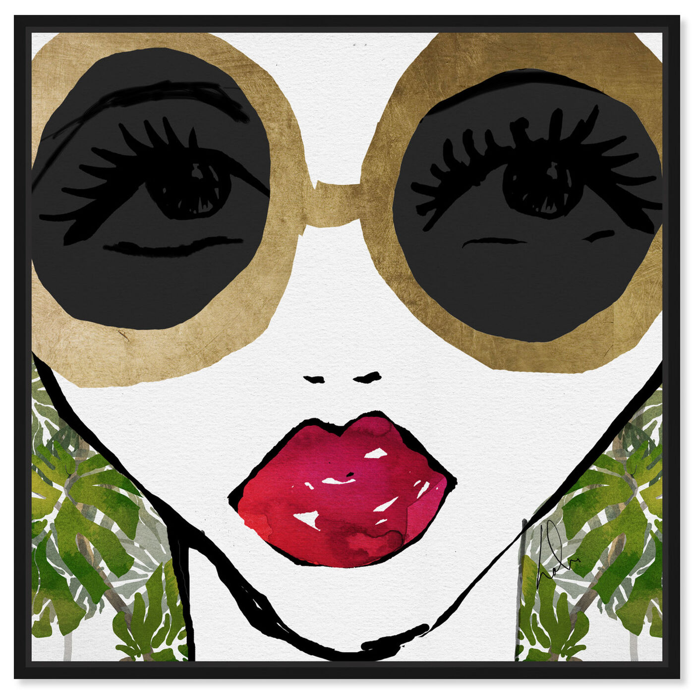 Front view of Ready For The Jungle featuring fashion and glam and portraits art.