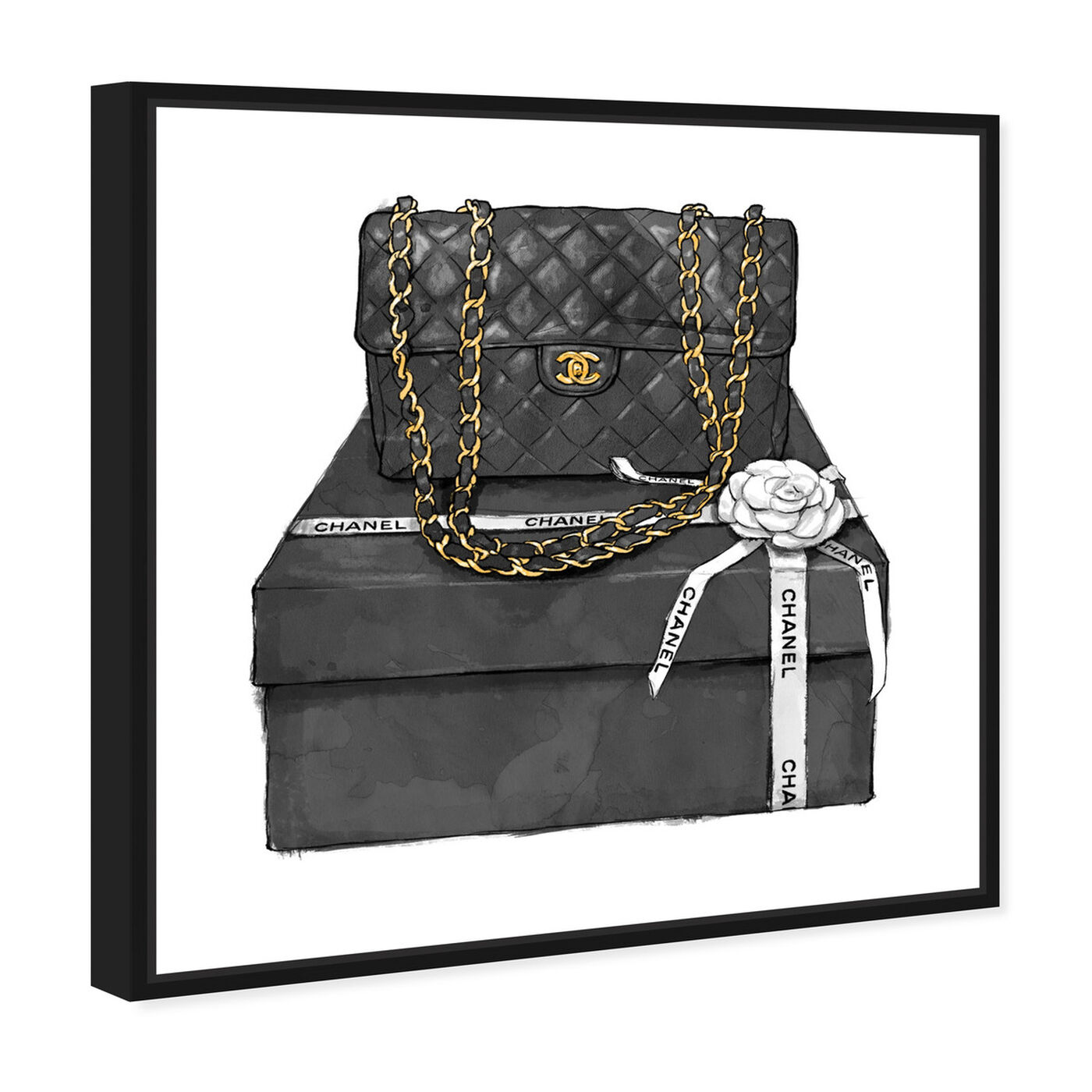 Angled view of Boxed Beauty featuring fashion and glam and handbags art.