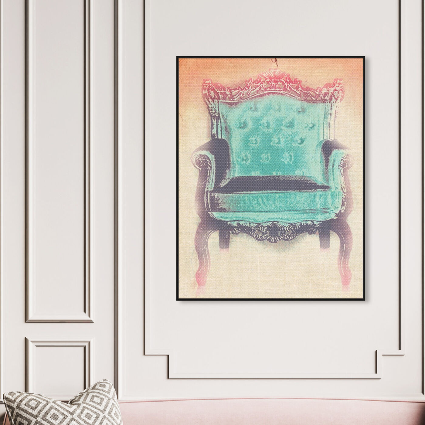 Hanging view of The Throne featuring fashion and glam and lifestyle art.