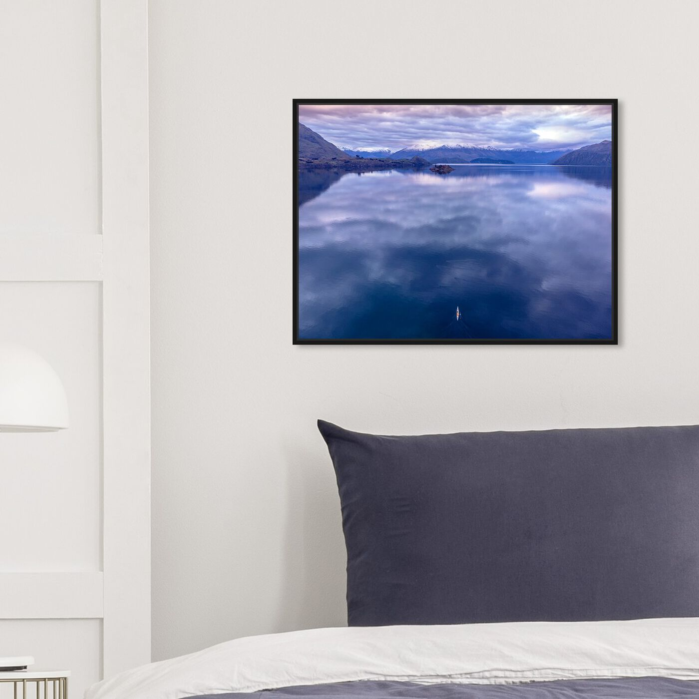 Hanging view of Curro Cardenal - Rowing Breath II featuring nature and landscape and mountains art.