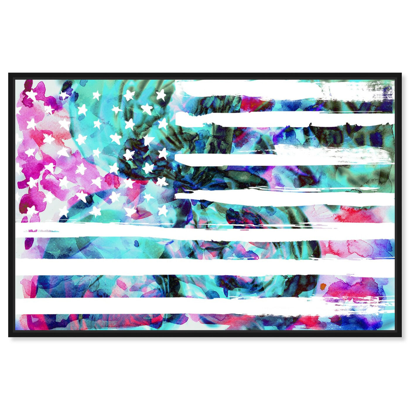 Front view of My America featuring americana and patriotic and us flags art.