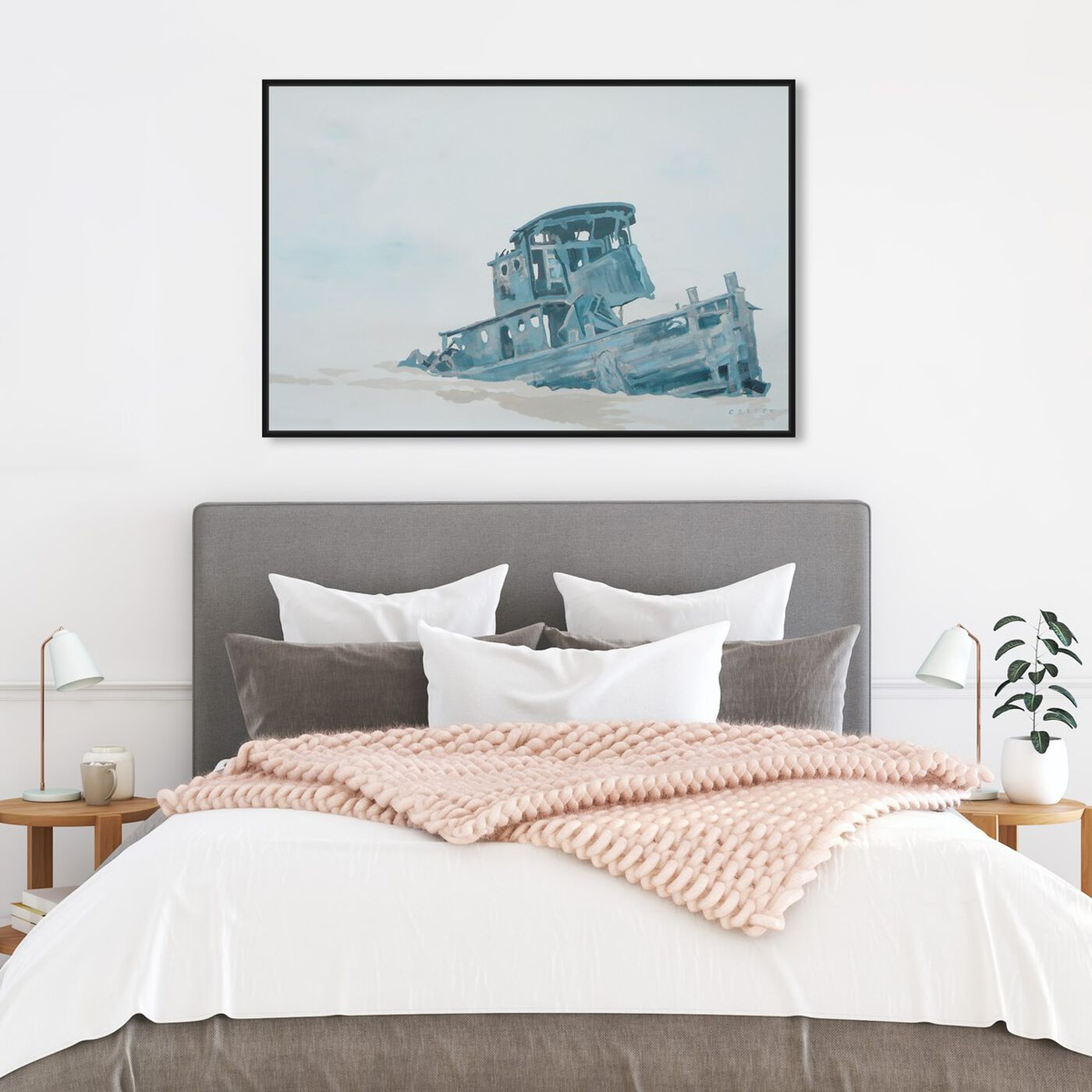 Hanging view of Celery Jones - I'l Just Leave This Right Here featuring nautical and coastal and nautical watercrafts art.