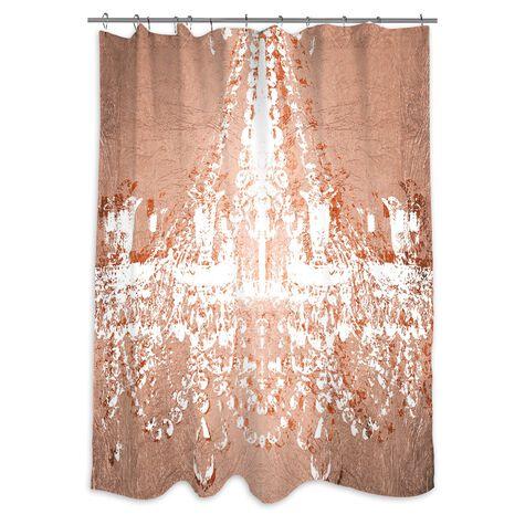 Dramatic Entrance Rose Shower Curtain