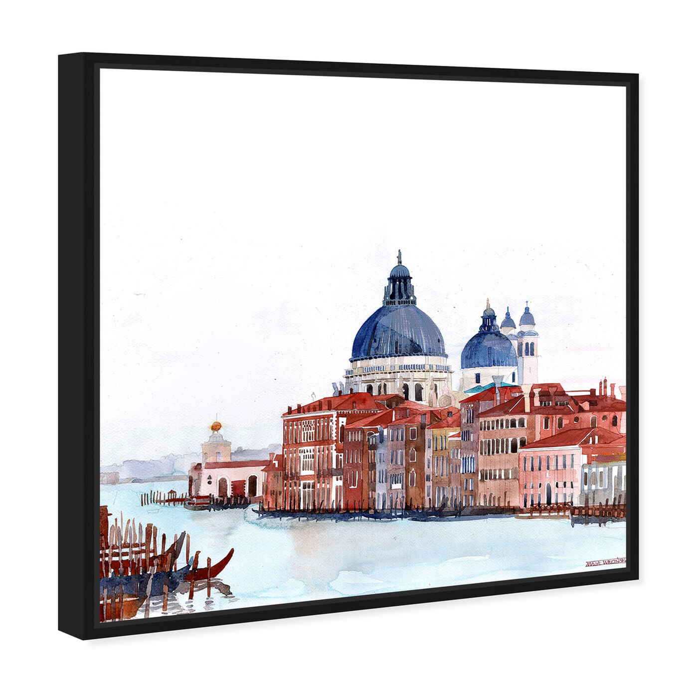 Angled view of Maja Wronska - Waterfront Vista Clear featuring cities and skylines and world cities art.