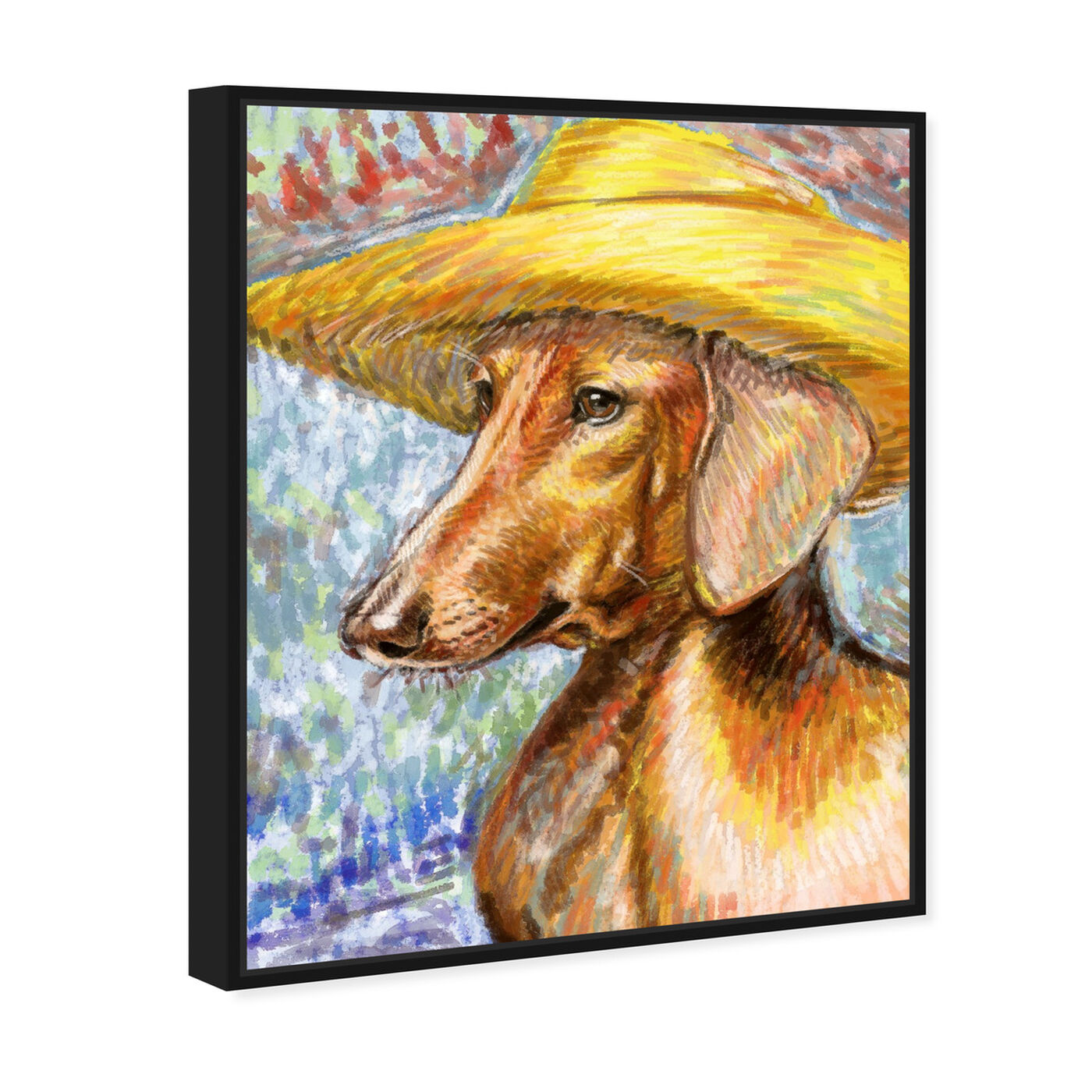 Angled view of Van Dogh By Carson Kressley featuring animals and dogs and puppies art.