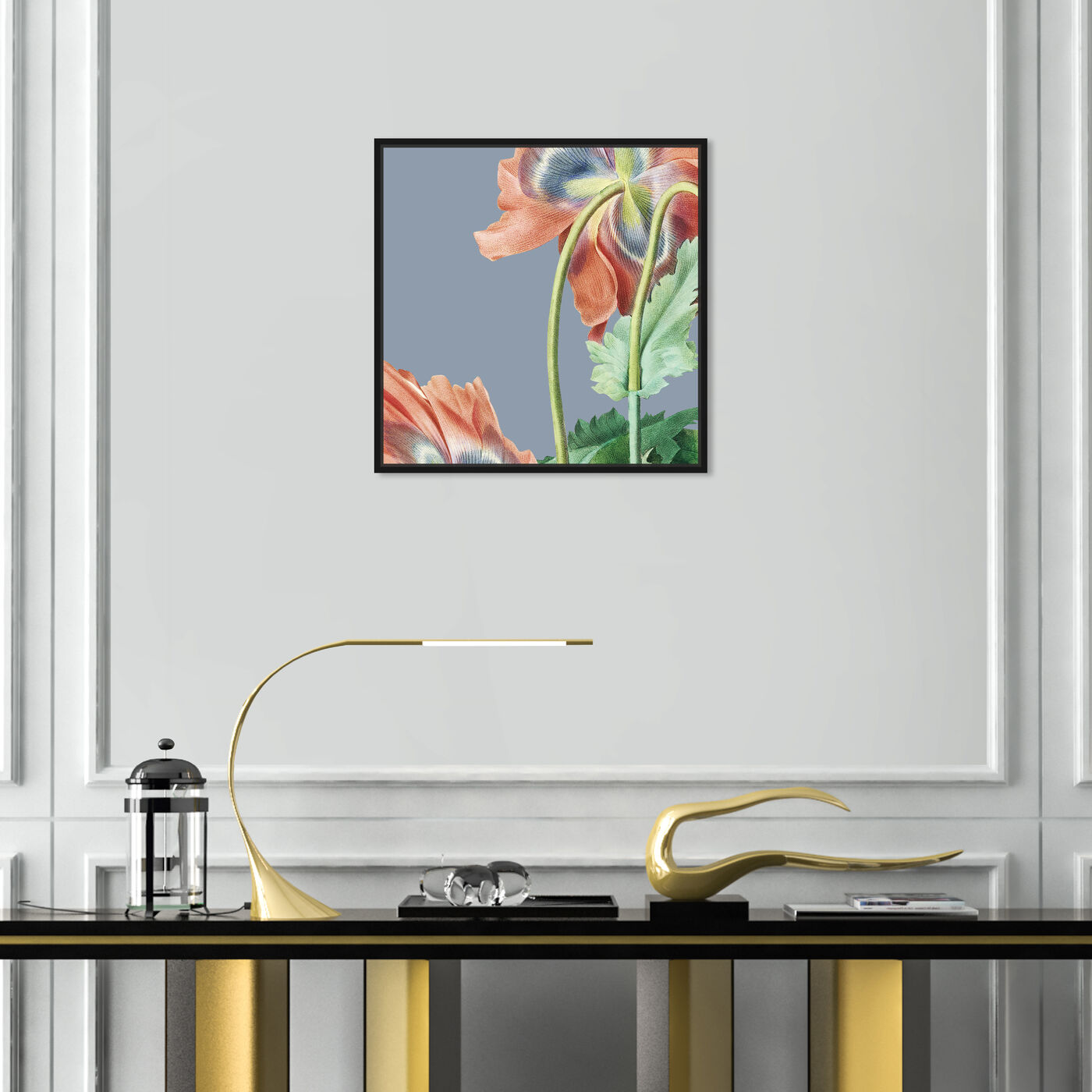 Hanging view of Flower I featuring floral and botanical and florals art.
